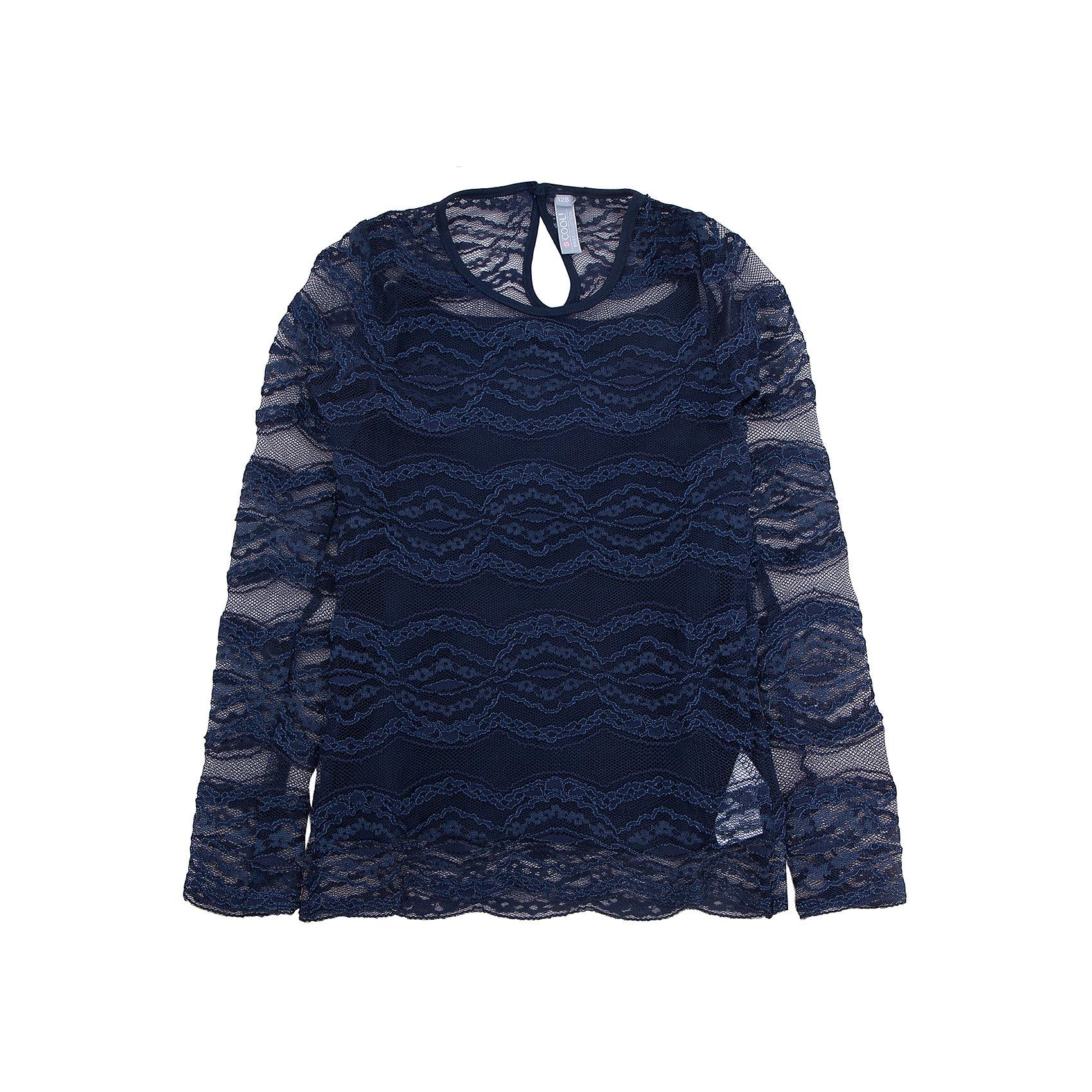 Блузка для девочки ScoolБлузки и рубашки<br>Характеристики:<br><br>• Вид одежды: блузка<br>• Сезон: круглый год<br>• Материал: верх – 100% полиамид, подкладка<br> – 95% хлопок, эластан – 5%<br>• Цвет: темно-синий<br>• Силуэт: прямой<br>• Длина рукава: длинный <br>• Воротник и горловина: круглая горловина<br>• Застежка: на спинке<br>• Особенности ухода: ручная стирка без применения отбеливающих средств, глажение при низкой температуре <br><br>Scool – это линейка детской одежды и обуви, которая предназначена как для повседневности, так и для праздников. Большинство моделей выполнены в классическом стиле, сочетающем в себе традиции с яркими стильными элементами и аксессуарами. Весь ассортимент одежды и обуви Scool сочетается между собой по стилю и цветовому решению, поэтому Вам будет легко сформировать гардероб вашего ребенка, который отражает его индивидуальность. <br>Верхняя часть блузки для девочки Scool выполнена из кружевного полотна, внутренняя – из сочетания хлопка и эластана, что обеспечивает износоустойчивость и сохранение формы даже при длительной носке и частых стирках. Изделие выполнено в классическом стиле: имеет прямой крой, длинный рукав и круглую горловину. Кружевное полотно фантазийного рисунка придает блузке особую женственность и воздушность. Сзади на спинке предусмотрена застежка на пуговицу. Блузка для девочки Scool, - это идеальный вариант для школьных будней!<br><br>Блузку для девочки Scool, можно купить в нашем интернет-магазине.<br><br>Ширина мм: 186<br>Глубина мм: 87<br>Высота мм: 198<br>Вес г: 197<br>Цвет: синий<br>Возраст от месяцев: 72<br>Возраст до месяцев: 84<br>Пол: Женский<br>Возраст: Детский<br>Размер: 128,134,140,146,152,158,122,164<br>SKU: 5078501