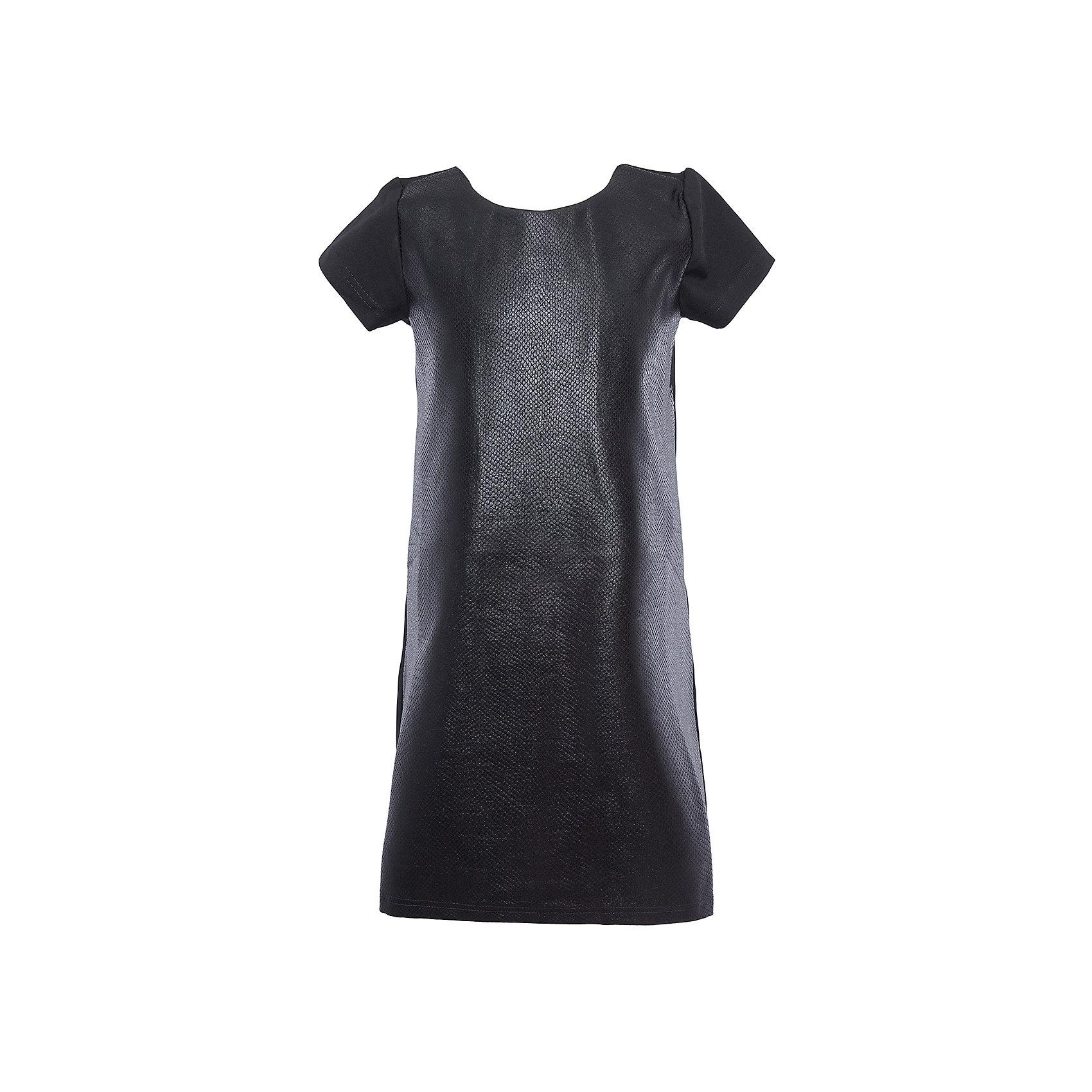 Нарядное платье для девочки ScoolХарактеристики:<br><br>• Вид одежды: праздничное платье, повседневное платье<br>• Сезон: круглый год<br>• Материал: 70% вискоза, 25% полиэстер, 5% эластан<br>• Цвет: черный<br>• Силуэт: прямой<br>• Длина платья: миди<br>• Рукав: короткий, приспущенный<br>• Вырез горловины: круглый<br>• Застежка: молния<br>• Особенности ухода: ручная стирка без применения отбеливающих средств, глажение при низкой температуре <br><br>Стильное платье для девочки Scool может быть предназначено как для школьных будней, так и для праздничных дней, если к нему добавить яркие и стильные аксессуары. Оно выполнено в классическом прямом силуэте, средней длины, имеет круглую горловину и слегка приспущенный рукав. Особенность платья заключается в фактуре ткани, из которой оно изготовлено: имитация змеиной кожи. Платье для девочки Scool, – это стиль, качество и элегантность!<br><br>Платье для девочки Scool, можно купить в нашем интернет-магазине.<br><br>Ширина мм: 236<br>Глубина мм: 16<br>Высота мм: 184<br>Вес г: 177<br>Цвет: черный<br>Возраст от месяцев: 96<br>Возраст до месяцев: 108<br>Пол: Женский<br>Возраст: Детский<br>Размер: 134,164,152,158,146,140<br>SKU: 5078510