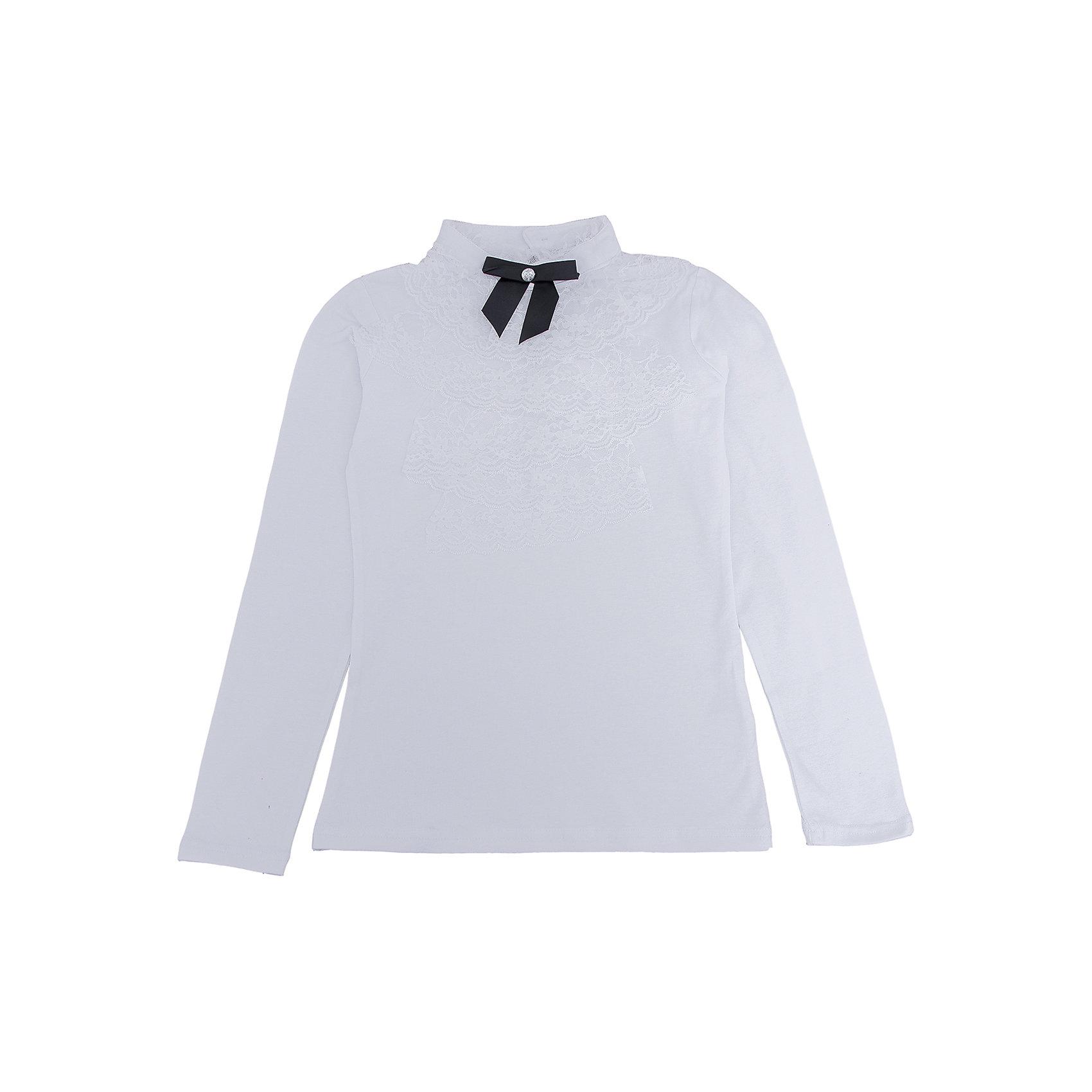 Блузка для девочки ScoolХарактеристики:<br><br>• Вид одежды: праздничная блузка, школьная форма<br>• Сезон: круглый год<br>• Материал: хлопок – 95%, эластан – 5%<br>• Цвет: белый<br>• Силуэт: прямой<br>• Длина рукава: длинный <br>• Воротник: стойка<br>• Кружевное жабо<br>• Атласный бантик<br>• Застежка: пуговица<br>• Особенности ухода: ручная стирка без применения отбеливающих средств, глажение при низкой температуре <br><br> Scool – это линейка детской одежды и обуви, которая предназначена как для повседневности, так и для праздников. Большинство моделей выполнены в классическом стиле, сочетающем в себе традиции с яркими стильными элементами и аксессуарами. Весь ассортимент одежды и обуви Scool сочетается между собой по стилю и цветовому решению, поэтому Вам будет легко сформировать гардероб вашего ребенка, который отражает его индивидуальность. <br>Блузка для девочки Scool выполнена из хлопка с добавлением эластана, что обеспечивает износоустойчивость и сохранение формы даже при длительной носке и частых стирках. Белая блузка выполнена в классическом стиле: имеет прямой крой, длинный рукав и воротник-стойку. Декорировано изделие стильными элементами: воротник-жабо из белого гипюра с бантиком из узкой атласной ленты черного цвета. Сзади на спинке предусмотрена застежка на пуговицу. Блузка для девочки Scool, – это идеальный вариант для школьных торжественных мероприятий!<br><br>Блузку для девочки Scool, можно купить в нашем интернет-магазине.<br><br>Ширина мм: 186<br>Глубина мм: 87<br>Высота мм: 198<br>Вес г: 197<br>Цвет: белый<br>Возраст от месяцев: 120<br>Возраст до месяцев: 132<br>Пол: Женский<br>Возраст: Детский<br>Размер: 140,152,158,146,164,134<br>SKU: 5078531