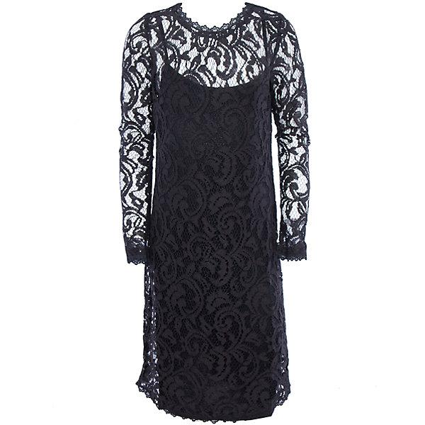 Нарядное платье для девочки ScoolОдежда<br>Характеристики:<br><br>• Вид одежды: праздничное платье<br>• Сезон: круглый год<br>• Материал: верх – 80 хлопок, 20% полиамид, подкладка – 100% вискоза<br>• Цвет: черный<br>• Силуэт: прямой<br>• Длина платья: миди<br>• Рукав: длинный<br>• Вырез горловины: круглый<br>• Застежка: молния<br>• Особенности ухода: ручная стирка без применения отбеливающих средств, глажение при низкой температуре <br><br>Scool – это линейка детской одежды и обуви, которая предназначена как для повседневности, так и для праздников. Большинство моделей выполнены в классическом стиле, сочетающем в себе традиции с яркими стильными элементами и аксессуарами. Весь ассортимент одежды и обуви Scool сочетается между собой по стилю и цветовому решению, поэтому Вам будет легко сформировать гардероб вашего ребенка, который отражает его индивидуальность. <br>Платье для девочки Scool с подкладкой выполнено из кружевной ткани. Изделие с длинным рукавом имеет классический крой: прямой силуэт, длинный рукав и круглую горловину. Сзади на спинке имеется застежка молния. Кружевное платье для девочки Scool, – это стиль и элегантность.<br><br>Платье для девочки Scool, можно купить в нашем интернет-магазине.<br><br>Ширина мм: 236<br>Глубина мм: 16<br>Высота мм: 184<br>Вес г: 177<br>Цвет: черный<br>Возраст от месяцев: 156<br>Возраст до месяцев: 168<br>Пол: Женский<br>Возраст: Детский<br>Размер: 164,146,152,158<br>SKU: 5078545