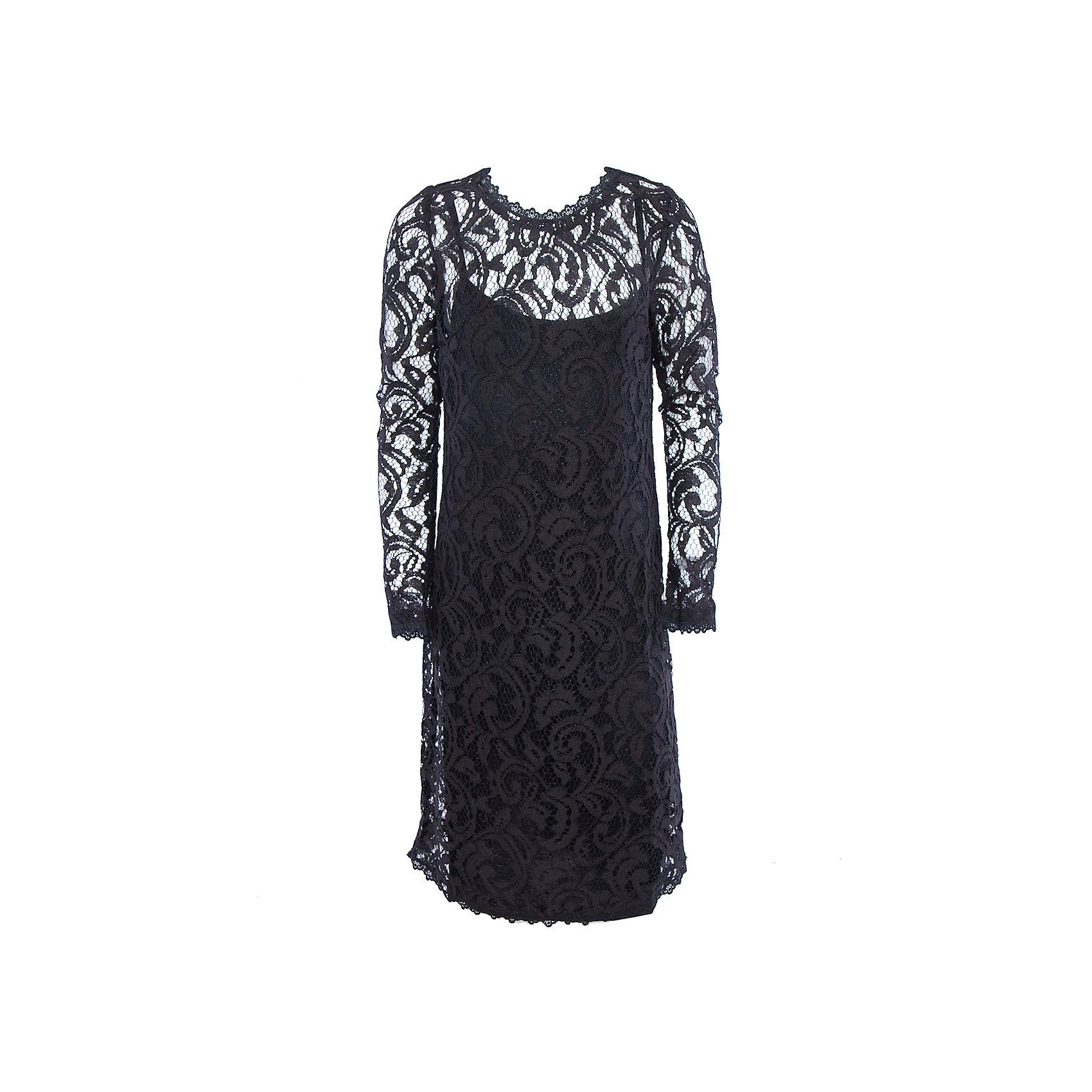 Нарядное платье для девочки ScoolОдежда<br>Характеристики:<br><br>• Вид одежды: праздничное платье<br>• Сезон: круглый год<br>• Материал: верх – 80 хлопок, 20% полиамид, подкладка – 100% вискоза<br>• Цвет: черный<br>• Силуэт: прямой<br>• Длина платья: миди<br>• Рукав: длинный<br>• Вырез горловины: круглый<br>• Застежка: молния<br>• Особенности ухода: ручная стирка без применения отбеливающих средств, глажение при низкой температуре <br><br>Scool – это линейка детской одежды и обуви, которая предназначена как для повседневности, так и для праздников. Большинство моделей выполнены в классическом стиле, сочетающем в себе традиции с яркими стильными элементами и аксессуарами. Весь ассортимент одежды и обуви Scool сочетается между собой по стилю и цветовому решению, поэтому Вам будет легко сформировать гардероб вашего ребенка, который отражает его индивидуальность. <br>Платье для девочки Scool с подкладкой выполнено из кружевной ткани. Изделие с длинным рукавом имеет классический крой: прямой силуэт, длинный рукав и круглую горловину. Сзади на спинке имеется застежка молния. Кружевное платье для девочки Scool, – это стиль и элегантность.<br><br>Платье для девочки Scool, можно купить в нашем интернет-магазине.<br><br>Ширина мм: 236<br>Глубина мм: 16<br>Высота мм: 184<br>Вес г: 177<br>Цвет: черный<br>Возраст от месяцев: 156<br>Возраст до месяцев: 168<br>Пол: Женский<br>Возраст: Детский<br>Размер: 164,146,158,152<br>SKU: 5078545