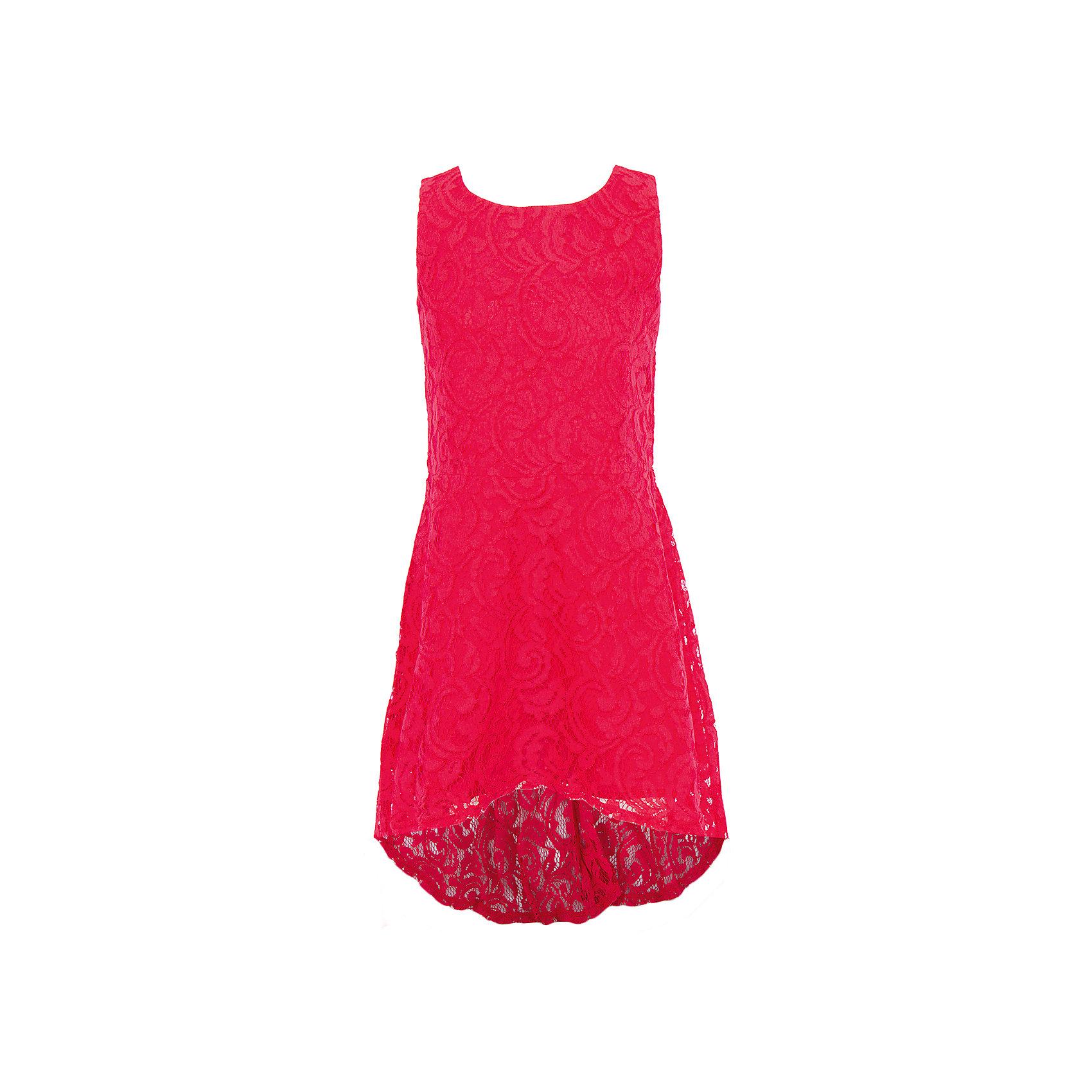 Нарядное платье для девочки ScoolХарактеристики:<br><br>• Вид одежды: праздничное платье<br>• Сезон: круглый год<br>• Материал: полиамид – 80%, хлопок – 20% (верх); хлопок – 100% (подкладка)<br>• Цвет: красный<br>• Силуэт: А стиль<br>• Длина платья: миди<br>• Рукав: отсутствует<br>• Вырез горловины: круглый<br>• Застежка: молния<br>• Особенности ухода: ручная стирка без применения отбеливающих средств, глажение при низкой температуре <br><br> Scool – это линейка детской одежды, которая предназначена как для повседневности, так и для праздников. Большинство моделей выполнены в классическом стиле, сочетающем в себе традиции с яркими стильными элементами и аксессуарами. Весь ассортимент одежды Scool сочетается между собой по стилю и цветовому решению, поэтому Вам будет легко сформировать гардероб вашего ребенка, который отражает его индивидуальность. <br>Стильное праздничное платье для девочки Scool выполнено из ярко-красного гипюра, подклад выполнен из 100% хлопка. Платье имеет классический приталенный А силуэт, с удлиненной юбкой сзади, круглую горловину. Платье для девочки Scool, – это стиль, качество и элегантность!<br><br>Платье для девочки Scool, можно купить в нашем интернет-магазине.<br><br>Ширина мм: 236<br>Глубина мм: 16<br>Высота мм: 184<br>Вес г: 177<br>Цвет: красный<br>Возраст от месяцев: 132<br>Возраст до месяцев: 144<br>Пол: Женский<br>Возраст: Детский<br>Размер: 152,164,146,158,134,140<br>SKU: 5078550