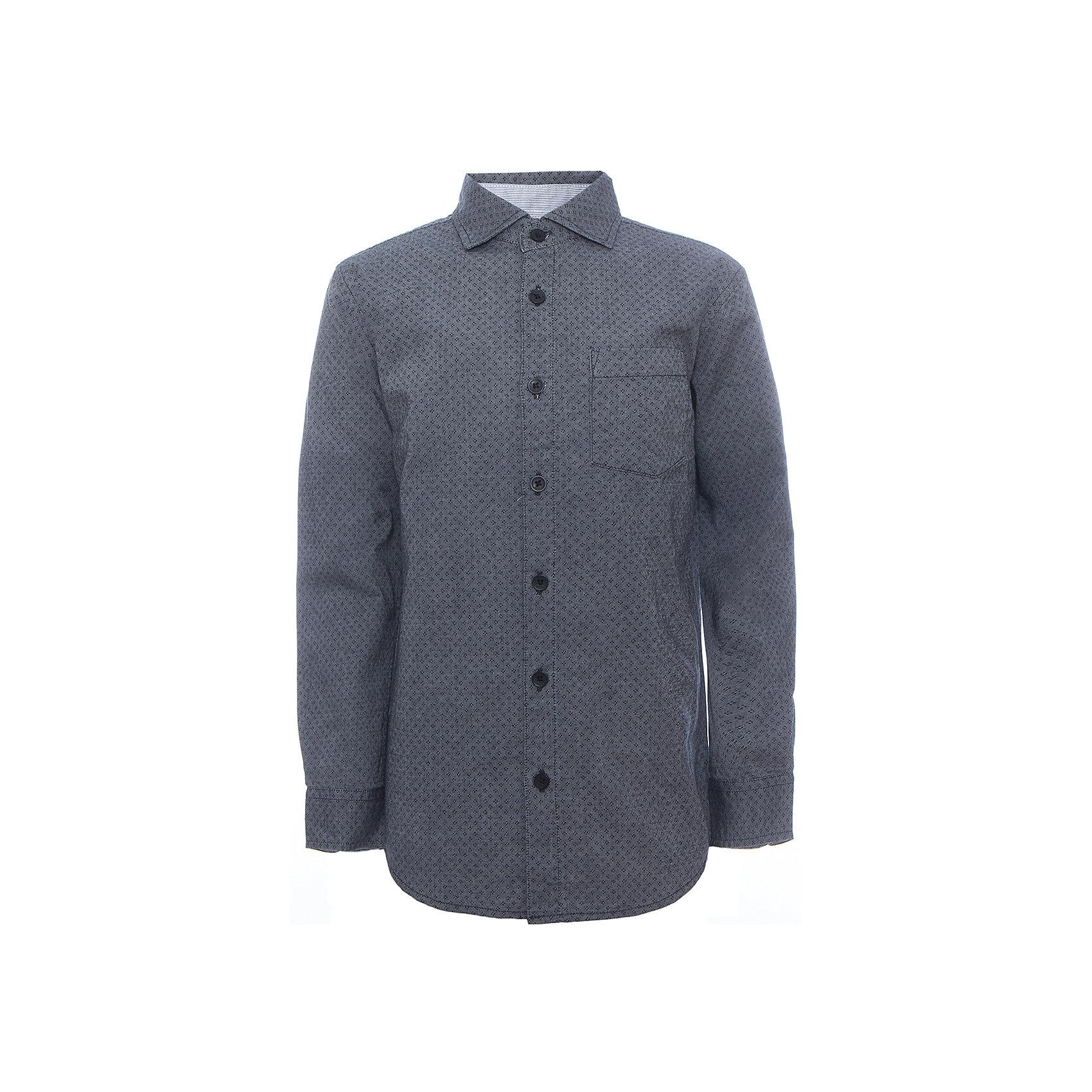 Рубашка для мальчика SELAБлузки и рубашки<br>Рубашка для мальчика Sela.<br><br>Характеристики:<br><br>• Цвет серый.<br>• Рукав длинный.<br>• Силуэт прямой.<br>• Сезон: демисезонный.<br>• Состав:100% хлопок.<br><br>Удобная рубашка - незаменимая вещь в гардеробе школьников. Эта модель отлично сидит на ребенке, она сделана из приятного на ощупь материала, мягкая и дышащая. Рубашка украшена накладным карманом, интересным принтом. Натуральный хлопок в составе ткани не вызывает аллергии и обеспечивает ребенку комфорт. Модель станет отличной базовой вещью, которая будет уместна в различных сочетаниях.<br>Одежда от бренда Sela (Села) - это качество по приемлемым ценам. Многие российские родители уже оценили преимущества продукции этой компании и всё чаще приобретают одежду и аксессуары Sela.<br><br>Рубашку для мальчика Sela,можно купить в нашем интернет- магазине.<br><br>Ширина мм: 174<br>Глубина мм: 10<br>Высота мм: 169<br>Вес г: 157<br>Цвет: синий<br>Возраст от месяцев: 132<br>Возраст до месяцев: 144<br>Пол: Мужской<br>Возраст: Детский<br>Размер: 152,116,122,128,134,140,146<br>SKU: 5078951