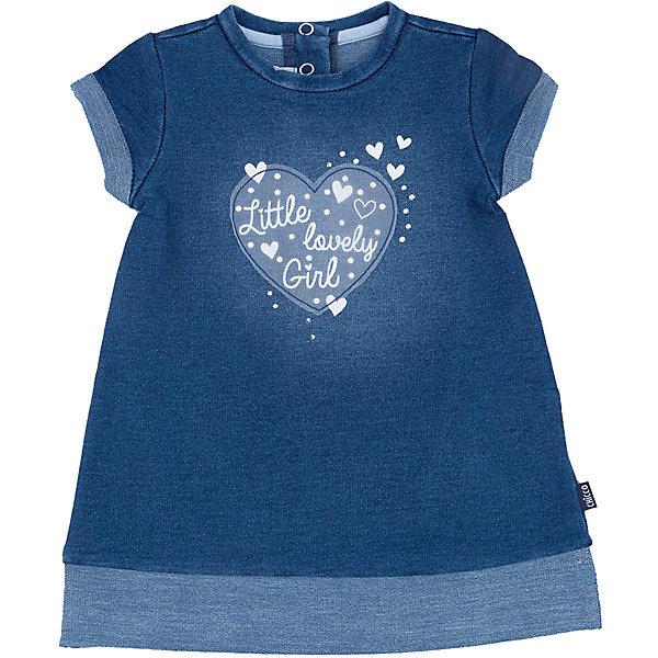 Платье с длинным рукавом  для девочки CHICCOКофточки и распашонки<br>Платье с длинным рукавом CHICCO для девочки<br><br>Характеристики:<br><br>Фактура материала: джинсовый<br>Вид застежки: кнопки, находятся сзади<br>Силуэт: приталенный<br>Длина рукава: короткие<br>Тип карманов: без карманов<br>Вид отделки: надпись<br><br>Состав: 86% хлопок, 10% полиэстер, 4% эластан<br><br>Платье с длинным рукавом CHICCO для девочки можно купить в нашем интернет-магазине.<br><br>Ширина мм: 236<br>Глубина мм: 16<br>Высота мм: 184<br>Вес г: 177<br>Цвет: синий<br>Возраст от месяцев: 6<br>Возраст до месяцев: 9<br>Пол: Женский<br>Возраст: Детский<br>Размер: 74,92,86,80<br>SKU: 5079385