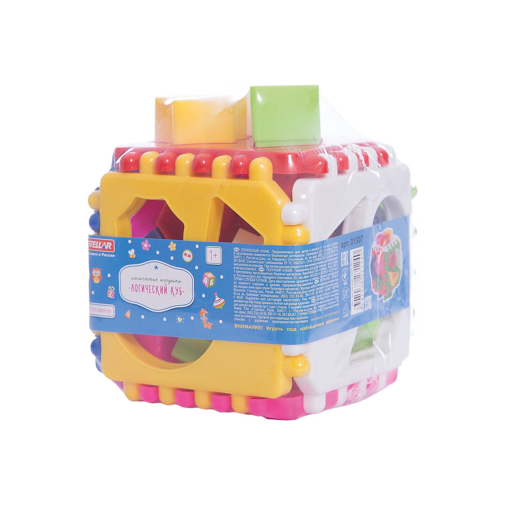 Логический куб, StellarРазвивающие игрушки<br>Характеристики товара:<br><br>- цвет: разноцветный;<br>- материал: пластик;<br>- возраст: от 1 года;<br>- размер: 9,5х9,5х9,5 см;<br>- размер одной пластины: 9,5х9,5 см.<br><br>Этот яркий куб будет помогать всестороннему развитию малыша и занимать его. Этот набор предназначен для формирования разных навыков, он помогает развить тактильное восприятие, мелкую моторику, воображение, цветовосприятие, внимание и логику. Также куб дополнен сортером - с его помощью малыш научится соотносить формы.<br>Изделие выполнено в ярких цветах, привлекающих внимание малыша. С такой игрушкой детям очень нравится проводить время! Изделие произведено из качественных материалов, безопасных для ребенка.<br><br>Логический куб от бренда Stellar можно купить в нашем интернет-магазине.<br><br>Ширина мм: 120<br>Глубина мм: 120<br>Высота мм: 120<br>Вес г: 270<br>Возраст от месяцев: 12<br>Возраст до месяцев: 2147483647<br>Пол: Унисекс<br>Возраст: Детский<br>SKU: 5079942