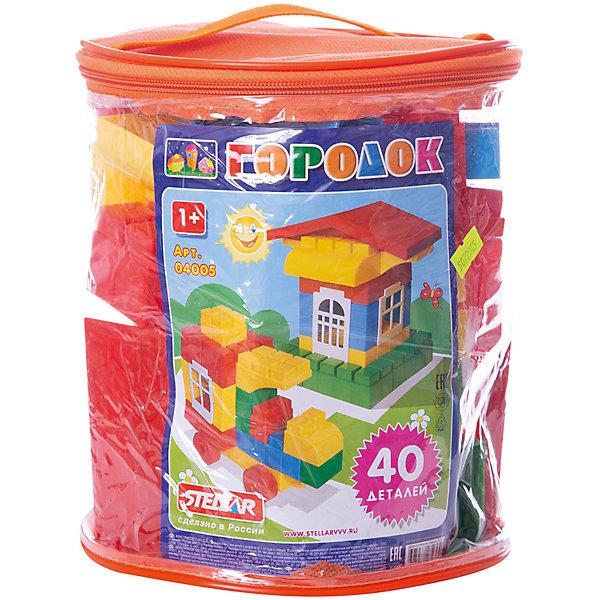 Конструктор Городок, 40 деталей, StellarПластмассовые конструкторы<br>Характеристики товара:<br><br>- цвет: разноцветный;<br>- материал: пластик;<br>- деталей: 40;<br>- размер: 23х19х19 см;<br>- комплектация: детали конструктора, упаковка-контейнер.<br><br>Конструкторы могут не только развлекать малыша, но и помогать его всестороннему развитию. Этот набор предназначен для формирования разных навыков, он помогает развить тактильное восприятие, мелкую моторику, воображение, внимание и логику.<br>Изделие представляет собой набор: 40 деталей, из которых можно сделать различные конструкции. Также в наборе есть удобная упаковка в виде прозрачного контейнера, в которой удобно хранить и переносить конструктор. С такой игрушкой можно придумать множество игр! Изделие произведено из качественных материалов, безопасных для ребенка.<br><br>Конструктор Городок, 40 деталей, от бренда Stellar можно купить в нашем интернет-магазине.<br><br>Ширина мм: 200<br>Глубина мм: 200<br>Высота мм: 220<br>Вес г: 800<br>Возраст от месяцев: 36<br>Возраст до месяцев: 2147483647<br>Пол: Унисекс<br>Возраст: Детский<br>SKU: 5079945