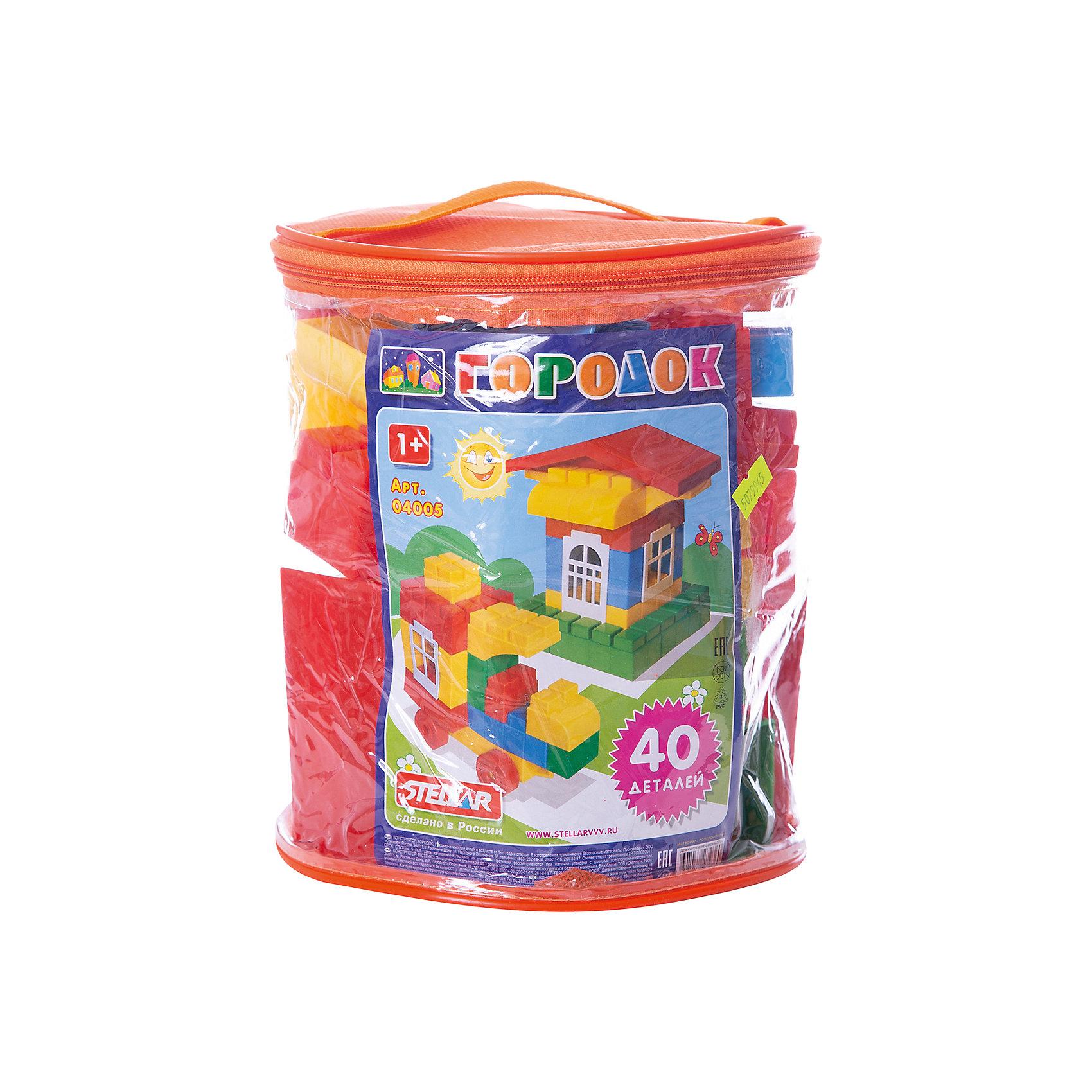 Конструктор Городок, 40 деталей, StellarХарактеристики товара:<br><br>- цвет: разноцветный;<br>- материал: пластик;<br>- деталей: 40;<br>- размер: 23х19х19 см;<br>- комплектация: детали конструктора, упаковка-контейнер.<br><br>Конструкторы могут не только развлекать малыша, но и помогать его всестороннему развитию. Этот набор предназначен для формирования разных навыков, он помогает развить тактильное восприятие, мелкую моторику, воображение, внимание и логику.<br>Изделие представляет собой набор: 40 деталей, из которых можно сделать различные конструкции. Также в наборе есть удобная упаковка в виде прозрачного контейнера, в которой удобно хранить и переносить конструктор. С такой игрушкой можно придумать множество игр! Изделие произведено из качественных материалов, безопасных для ребенка.<br><br>Конструктор Городок, 40 деталей, от бренда Stellar можно купить в нашем интернет-магазине.<br><br>Ширина мм: 200<br>Глубина мм: 200<br>Высота мм: 220<br>Вес г: 800<br>Возраст от месяцев: 36<br>Возраст до месяцев: 2147483647<br>Пол: Унисекс<br>Возраст: Детский<br>SKU: 5079945