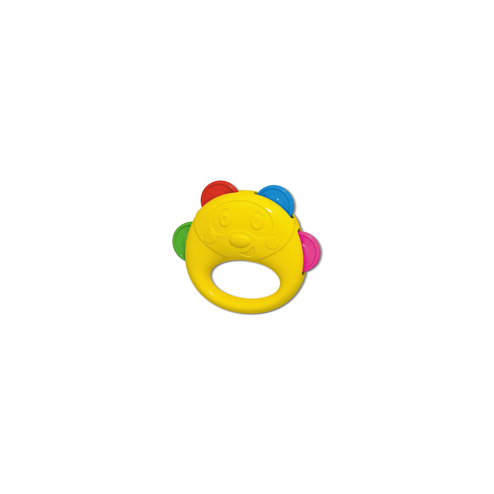 Бубен, StellarМузыкальные инструменты и игрушки<br>Характеристики товара:<br><br>- цвет: разноцветный;<br>- материал: пластик;<br>- 4 пары дисков;<br>- вес: 60 гр.<br><br>Детская развивающая игрушка бубен – отличный подарок для ребенка. В процессе игры с детской погремушкой ребенок развивает моторику, тактильное восприятие, воображение, внимание и координацию движений, слуховые навыки. Игрушка погремушка издает приятный звук, когда ребенок ее трясет, а также игрушка снабжена удобной ручкой. Этот яркий бубен сделан специально для маленьких ручек ребёнка. <br>Такая погремушка-бубен позволит малышу с детства развивать слух и музыкальные способности. Изделие произведено из качественных материалов, безопасных для ребенка.<br><br>Бубен от бренда Stellar можно купить в нашем интернет-магазине.<br><br>Ширина мм: 125<br>Глубина мм: 40<br>Высота мм: 210<br>Вес г: 60<br>Возраст от месяцев: 36<br>Возраст до месяцев: 2147483647<br>Пол: Унисекс<br>Возраст: Детский<br>SKU: 5079947