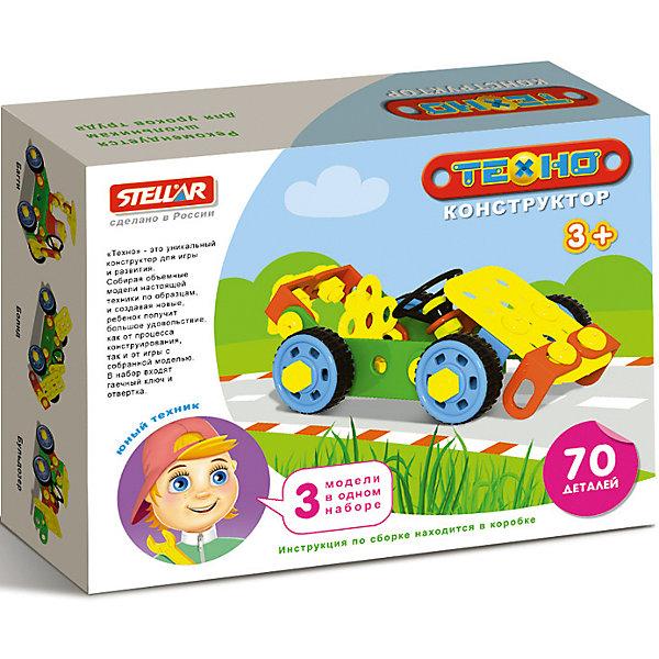 Конструктор Кабриолет, 70 деталей, StellarКонструкторы для малышей<br>Характеристики товара:<br><br>- цвет: разноцветный;<br>- материал: пластик;<br>- деталей: 70;<br>- комплектация: детали конструктора, упаковка, гаечный ключ, отвертка, инструкция.<br><br>Конструкторы могут не только развлекать малыша, но и помогать его всестороннему развитию. Этот набор предназначен для формирования разных навыков, он помогает развить тактильное восприятие, мелкую моторику, воображение, внимание и логику.<br>Изделие представляет собой набор из 70 деталей, с помощью которых можно сделать различные конструкции. Для того, чтобы сконструировать определенную модель, можно обратиться к инструкции из набора. Также в наборе есть инструменты: гаечный ключ и отвертка, с помощью которых удобно собирать конструктор. С таким набором можно придумать множество игр! Изделие произведено из качественных материалов, безопасных для ребенка.<br><br>Конструктор Кабриолет, 70 деталей, от бренда Stellar можно купить в нашем интернет-магазине.<br>Ширина мм: 165; Глубина мм: 125; Высота мм: 40; Вес г: 218; Возраст от месяцев: 36; Возраст до месяцев: 2147483647; Пол: Унисекс; Возраст: Детский; SKU: 5079953;