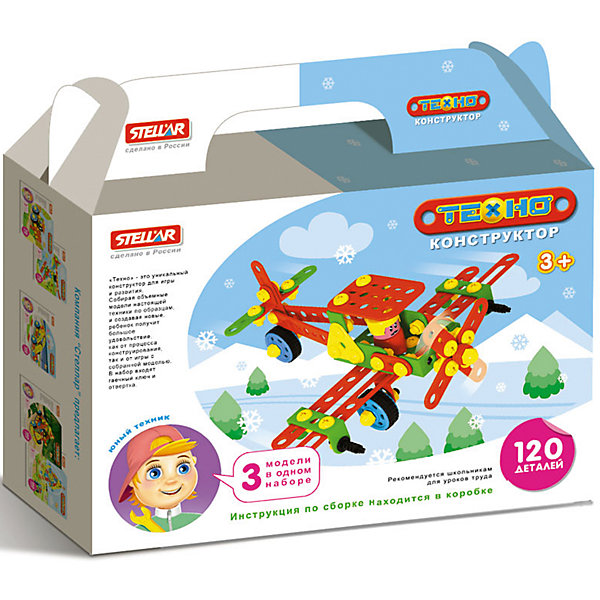 Конструктор Самолет, 120 деталей, StellarПластмассовые конструкторы<br>Характеристики товара:<br><br>- цвет: разноцветный;<br>- материал: пластик;<br>- деталей: 120;<br>- комплектация: детали конструктора, упаковка, гаечный ключ, отвертка, инструкция.<br><br>Конструкторы могут не только развлекать малыша, но и помогать его всестороннему развитию. Этот набор предназначен для формирования разных навыков, он помогает развить тактильное восприятие, мелкую моторику, воображение, внимание и логику.<br>Изделие представляет собой набор из 70 деталей, с помощью которых можно сделать различные конструкции. Для того, чтобы сконструировать определенную модель, можно обратиться к инструкции из набора. Также в наборе есть инструменты: гаечный ключ и отвертка, с помощью которых удобно собирать конструктор. С таким набором можно придумать множество игр! Изделие произведено из качественных материалов, безопасных для ребенка.<br><br>Конструктор Самолет, 120 деталей, от бренда Stellar можно купить в нашем интернет-магазине.<br>Ширина мм: 215; Глубина мм: 190; Высота мм: 50; Вес г: 366; Возраст от месяцев: 36; Возраст до месяцев: 2147483647; Пол: Мужской; Возраст: Детский; SKU: 5079957;