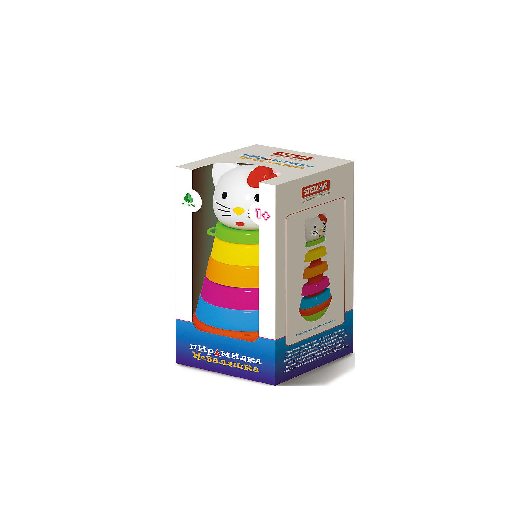 Пирамидка Неваляшкав коробке, StellarПирамидки<br>Характеристики товара:<br><br>- цвет: разноцветный;<br>- материал: пластик;<br>- развивающая;<br>- возраст: от 1 года;<br>- размер: 11x11x24 см.<br><br>Пирамидки могут не только развлекать малыша, но и помогать его всестороннему развитию. Этот набор предназначен для формирования разных навыков, он помогает развить тактильное восприятие, мелкую моторику, воображение, цветовосприятие, внимание и логику. Также пирамидка дополнена особым основанием, с помощью которого в собранном виде становится игрушкой-неваляшкой. <br>С такой игрушкой детям очень нравится проводить время! Изделие произведено из качественных материалов, безопасных для ребенка.<br><br>Пирамидку Неваляшка в коробке от бренда Stellar можно купить в нашем интернет-магазине.<br><br>Ширина мм: 110<br>Глубина мм: 110<br>Высота мм: 210<br>Вес г: 375<br>Возраст от месяцев: 12<br>Возраст до месяцев: 2147483647<br>Пол: Унисекс<br>Возраст: Детский<br>SKU: 5079960