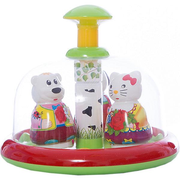 Юла-карусель Хоровод, StellarЮлы, неваляшки<br>Характеристики товара:<br><br>- цвет: разноцветный;<br>- материал: пластик;<br>- для самых маленьких.<br><br>Детская развивающая игрушка в виде яркой юлы – отличный подарок для ребенка. В процессе игры с ней ребенок развивает моторику, тактильное восприятие, воображение, внимание и координацию движений, осваивает причинно-следственные связи. Игрушка издает при вращении приятный звук. Эта юла сделана специально для маленьких ручек ребёнка. <br>Такая игрушка позволит малышу с детства развивать свои способности. Изделие произведено из качественных материалов, безопасных для ребенка.<br><br>Юлу-карусель Хоровод от бренда Stellar можно купить в нашем интернет-магазине.<br>Ширина мм: 200; Глубина мм: 200; Высота мм: 175; Вес г: 600; Возраст от месяцев: 12; Возраст до месяцев: 2147483647; Пол: Унисекс; Возраст: Детский; SKU: 5079969;