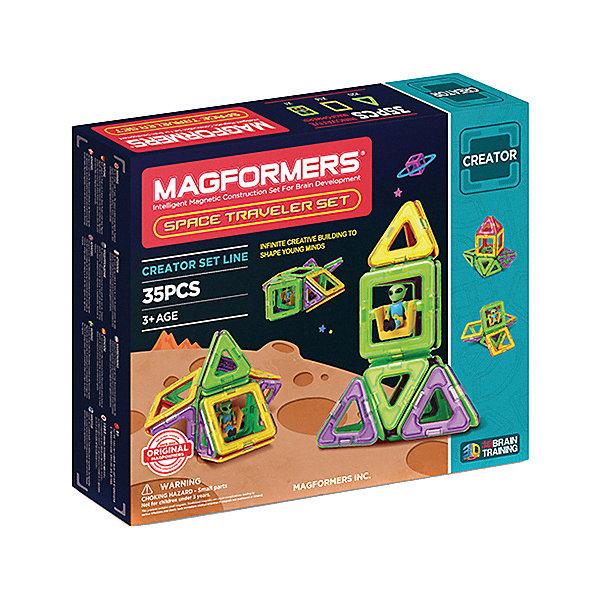 Магнитный конструктор Space Traveler set, MAGFORMERSМагнитные конструкторы<br>Характеристики товара:<br><br>- цвет: разноцветный;<br>- материал: магнит, пластик;<br>- деталей: 50;<br>- комплектация: детали конструктора, упаковка.<br><br>Конструкторы могут не только развлекать ребенка, но и помогать его всестороннему развитию. Этот набор предназначен для формирования разных навыков, он помогает развить тактильное восприятие, мелкую моторику, воображение, внимание и логику.<br>Изделие представляет собой набор из 35 магнитных деталей разных форм, с помощью которых можно сделать различные конструкции. Конструктор из магнитных деталей очень нравится детям! С таким набором можно придумать множество игр! Изделие произведено из качественных материалов, безопасных для ребенка.<br><br>Магнитный конструктор Build Up, от бренда MAGFORMERS можно купить в нашем интернет-магазине.<br><br>Ширина мм: 240<br>Глубина мм: 280<br>Высота мм: 50<br>Вес г: 692<br>Возраст от месяцев: 36<br>Возраст до месяцев: 2147483647<br>Пол: Унисекс<br>Возраст: Детский<br>SKU: 5082416