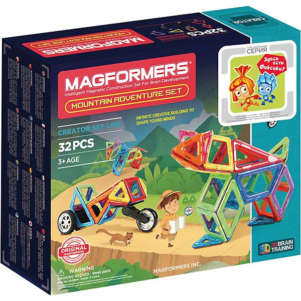 Магнитный конструктор Adventure Mountain, MAGFORMERSМагнитные конструкторы<br>Характеристики товара:<br><br>- цвет: разноцветный;<br>- материал: магнит, пластик;<br>- деталей: 32;<br>- комплектация: детали конструктора, упаковка.<br><br>Конструкторы могут не только развлекать ребенка, но и помогать его всестороннему развитию. Этот набор предназначен для формирования разных навыков, он помогает развить тактильное восприятие, мелкую моторику, воображение, внимание и логику.<br>Изделие представляет собой набор из 35 магнитных деталей разных форм, с помощью которых можно сделать различные конструкции. Конструктор из магнитных деталей очень нравится детям! С таким набором можно придумать множество игр! Изделие произведено из качественных материалов, безопасных для ребенка.<br><br>Магнитный конструктор Adventure Mountain, от бренда MAGFORMERS можно купить в нашем интернет-магазине.<br>Ширина мм: 245; Глубина мм: 290; Высота мм: 80; Вес г: 988; Возраст от месяцев: 36; Возраст до месяцев: 2147483647; Пол: Унисекс; Возраст: Детский; SKU: 5082418;