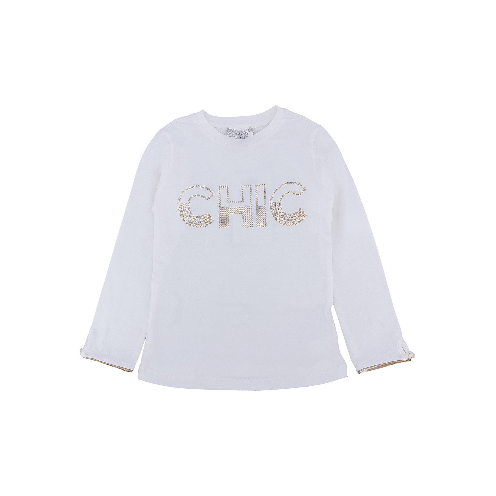 CHICCO Футболка с длинным рукавом CHICCO для девочки chicco туника с длинным рукавом chicco для девочки