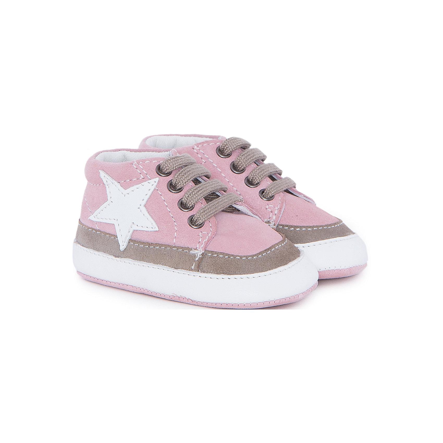 Пинетки  для мальчика  CHICCOПинетки<br>Полуботинки для девочки CHICCO<br><br>Характеристики:<br><br>Тип застежки: шнурки<br>Тип обуви: спортивные<br>Особенности обуви: кожаные<br>Декоративные элементы: звезда<br>Цвет: розовый<br><br>Материал: 100% кожа<br><br>Полуботинки для девочки CHICCO можно купить в нашем интернет-магазине.<br><br>Ширина мм: 262<br>Глубина мм: 176<br>Высота мм: 97<br>Вес г: 427<br>Цвет: розовый<br>Возраст от месяцев: 6<br>Возраст до месяцев: 9<br>Пол: Женский<br>Возраст: Детский<br>Размер: 19,18<br>SKU: 5082840