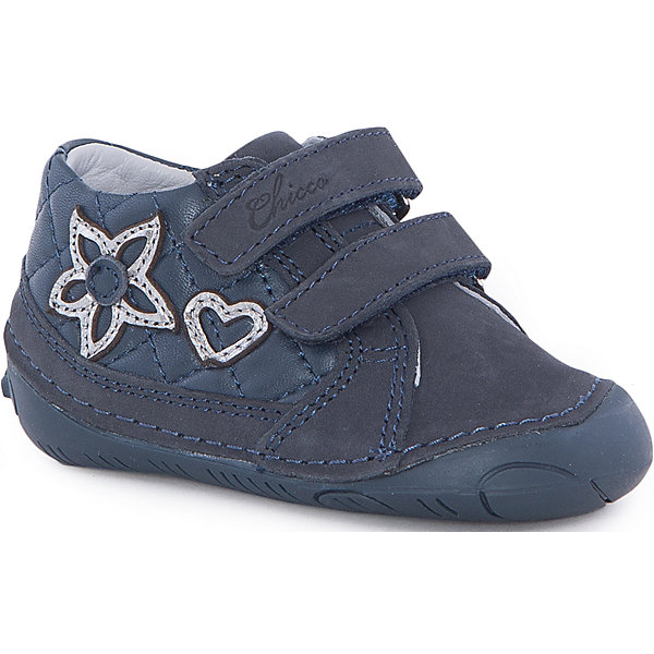 Полуботинки  для девочки  CHICCOОбувь для малышей<br>Полуботинки для девочки CHICCO<br><br>Характеристики:<br><br>Тип застежки: липучки, 2 шт.<br>Тип обуви: спортивные<br>Особенности обуви: усиленный носок<br>Декоративные элементы: стеганые квадраты; добавочные элементы, сердце и цветок<br>Цвет: синий<br><br>Материал: 100% кожа<br><br>Полуботинки для девочки CHICCO можно купить в нашем интернет-магазине.<br>Ширина мм: 262; Глубина мм: 176; Высота мм: 97; Вес г: 427; Цвет: синий; Возраст от месяцев: 9; Возраст до месяцев: 12; Пол: Женский; Возраст: Детский; Размер: 20,19,21; SKU: 5082855;