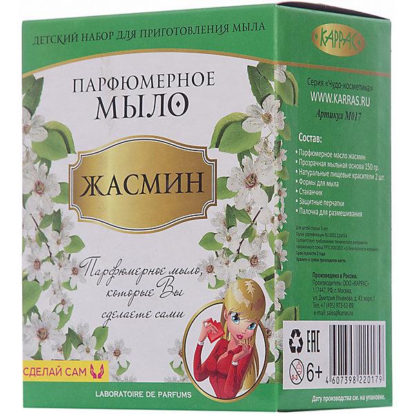 Парфюмерное мыло ЖасминНаборы для создания мыла<br>Парфюмерное мыло – это новый косметический продукт, обладающий сочетанными свойствами мыла и духов.  Оно прекрасно очищает кожу и придаёт ей освежающий аромат лаванды, жасмина, сандала, сакуры или сирени. Своими руками ребёнок сделает прекрасный подарок для мамы и своих подруг.<br><br>Ширина мм: 120<br>Глубина мм: 80<br>Высота мм: 150<br>Вес г: 244<br>Возраст от месяцев: 96<br>Возраст до месяцев: 180<br>Пол: Женский<br>Возраст: Детский<br>SKU: 5083837