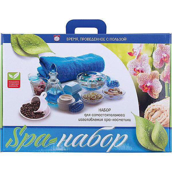 SPA-НаборНаборы для создания парфюмерии<br>Характеристики:<br><br>• размер: 40х28х9.5см.;<br>• в набор входит: мыльная основа, основа для создания шампуня, ароматизаторы, красители, основа для бомбочек, мягкая губка, скраб на основе кофе, перчатки и подробная инструкция;<br>• состав: мыло, пластик;<br>• вес: 1,5 кг.;<br>• для детей в возрасте: от 8 лет;<br>• страна производитель: Россия.<br><br>Этот удивительный набор от Master IQ2 (Мастер АйКью2) позволит перенестись в необычайный мир Спа процедур. Вместе с этим большим набором ребёнок легко сможет самостоятельно создать мыло, скраб или шампунь, а ещё приготовить собственные шипучие бомбы для ванны.<br><br>Выполнение некоторых компонентов набора может занять время, требуемое для высыхания. Всеми изготовленными продуктами можно пользоваться, их компоненты безопасны, так как состоят на мыльной основе.<br><br>Изготовленные собственными руками бомбочки будут отличным подарком для близких.  <br>Занимаясь с таким набором дети развивают моторику рук, усидчивость, аккуратность и творческие способности. <br><br>Набор «SPA-Набор» можно купить в нашем интернет-магазине.<br><br>Ширина мм: 400<br>Глубина мм: 100<br>Высота мм: 280<br>Вес г: 1570<br>Возраст от месяцев: 96<br>Возраст до месяцев: 180<br>Пол: Женский<br>Возраст: Детский<br>SKU: 5083851