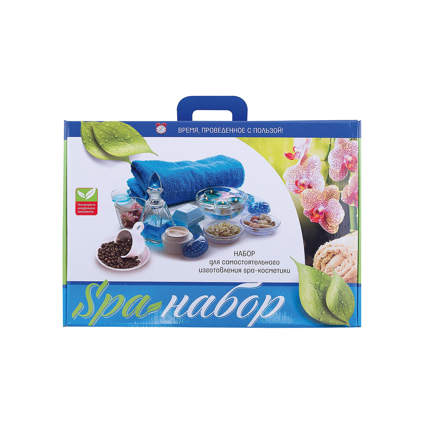 SPA-НаборКосметика, грим и парфюмерия<br>Характеристики товара:<br><br>• упаковка: коробка<br>• комплектация: мыльная основа, основа для создания шампуня, ароматизаторы, красители, основа для бомбочек, мягкая губка, скраб на основе кофе, перчатки и подробная инструкция<br>• материал: пластик, мыло <br>• возраст: от 8 лет<br>• размер упаковки: 40х28х10 см.<br>• страна бренда: Российская Федерация<br>• страна производства: Российская Федерация<br><br>Создание косметики своими руками - отличный способ занять ребенка. Это не только занимательно, но и очень полезно! С помощью такого набора для творчества ребенок сможет научиться сам делать шампунь, скраб, мыло и бомбочки для купания. В комплекте - ароматизатор, с помощью которого можно придать косметике запах. Готовое изделие может стать подарком от ребенка на праздник для близких и родственников!<br>Такое занятие помогает детям развивать многие важные навыки и способности: они тренируют внимание, память, логику, мышление, мелкую моторику, а также усидчивость и аккуратность. Изделие производится из качественных сертифицированных материалов, безопасных даже для самых маленьких.<br><br>SPA-Набор от бренда Каррас можно купить в нашем интернет-магазине.<br><br>Ширина мм: 400<br>Глубина мм: 100<br>Высота мм: 280<br>Вес г: 1570<br>Возраст от месяцев: 96<br>Возраст до месяцев: 180<br>Пол: Женский<br>Возраст: Детский<br>SKU: 5083851