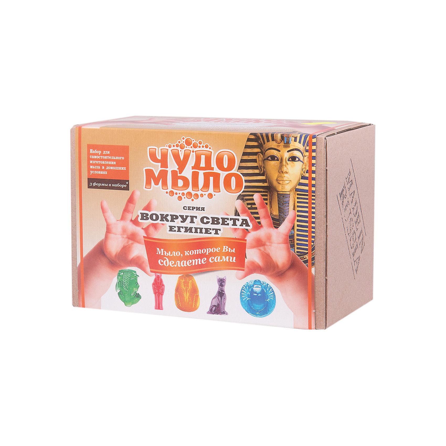 Чудо-Мыло Египет (малый набор)Наборы для создания мыла<br>Характеристики:<br><br>• размер: 19x11x13см.;<br>• в набор входит: прозрачная мыльная основа, красители и ароматизатор, керамическая чаша, перчатки, палочки, формы для мыла 3 шт.;<br>• вес: 400 г.;<br>• для детей в возрасте: от 8 лет;<br>• страна производитель: Россия.<br><br>Этот удивительный набор от Master IQ2 (Мастер АйКью2) позволит перенестись на какое-то время в необычайный мир мыловарения. Вместе с простой пошаговой инструкцией ребёнок легко может сделать красивое мыло в стиле Древнего Египта самостоятельно. Благодаря этому интересному набору ребёнок может погрузиться в историю Древнего мира и почувствовать себя путешественником во времени.<br><br>Набор для изготовления мыла станет отличным помощником в сфере художественного развития и прекрасно подойдёт для развития моторики рук, усидчивости, аккуратности. Кроме того, задание повышает самооценку, ведь ребёнок смог сам сделать это красивое мыло.<br><br>Чудо-Мыло Египет (малый набор) NEW можно купить в нашем интернет-магазине.<br><br>Ширина мм: 182<br>Глубина мм: 122<br>Высота мм: 102<br>Вес г: 476<br>Возраст от месяцев: 96<br>Возраст до месяцев: 180<br>Пол: Женский<br>Возраст: Детский<br>SKU: 5083855