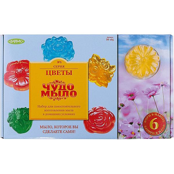 Чудо-Мыло Цветы (большой набор)Наборы для создания мыла<br>Характеристики:<br><br>• размер: 20x7x32см.;<br>• в набор входит: прозрачная мыльная основа, красители и ароматизатор, керамическая чаша, перчатки, палочки, формы для мыла 6 шт.;<br>• вес: 970 г.;<br>• для детей в возрасте: от 8 лет;<br>• страна производитель: Россия.<br><br>Этот удивительный набор от Master IQ2 (Мастер АйКью2) позволит перенестись на какое-то время в необычайный мир мыловарения. Вместе с простой пошаговой инструкцией ребёнок легко может сделать красивое мыло с цветочной тематикой самостоятельно. Благодаря этому интересному набору ребёнок может изготовить мыло в виде анютиных глазок, маргариток, роз или лотоса.<br><br>Набор для изготовления мыла станет отличным помощником в сфере художественного развития и прекрасно подойдёт для развития моторики рук, усидчивости, аккуратности. Кроме того, задание повышает самооценку, ведь ребёнок смог сам сделать это красивое мыло.<br><br>Чудо-Мыло Цветы (большой набор) можно купить в нашем интернет-магазине.<br><br>Ширина мм: 320<br>Глубина мм: 70<br>Высота мм: 200<br>Вес г: 890<br>Возраст от месяцев: 96<br>Возраст до месяцев: 180<br>Пол: Унисекс<br>Возраст: Детский<br>SKU: 5083865