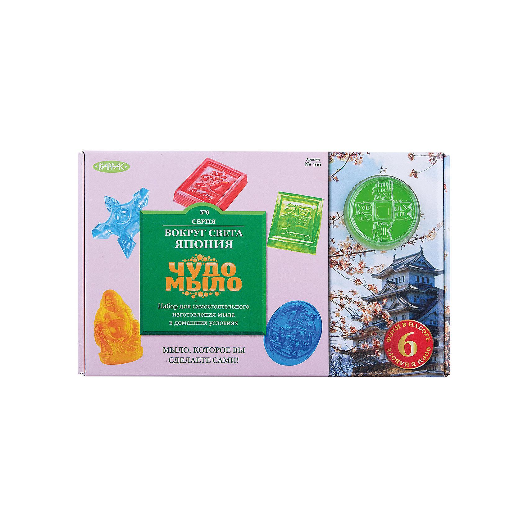 Чудо-Мыло Япония  (большой набор)Создание мыла<br>Эксклюзивный набор для создания «Чудо-мыла» своими руками. С помощью различных ингредиентов Вы сделаете неповторимые образцы мыла самых разных цветов и ароматов. Удивительное мыло ручной работы станет прекрасным подарком для Ваших друзей и близких.    <br><br>Прозрачная мыльная основа (300 г)<br>Натуральные пищевые красители 3шт<br>Натуральные ароматизаторы 3шт<br> Глиняная чаша  для микроволновой печи  <br> Деревянные палочки 3шт.<br> Защитные перчатки 2 пары<br> Формы для мыла 6 шт.<br><br>Ширина мм: 320<br>Глубина мм: 70<br>Высота мм: 200<br>Вес г: 890<br>Возраст от месяцев: 96<br>Возраст до месяцев: 180<br>Пол: Унисекс<br>Возраст: Детский<br>SKU: 5083866