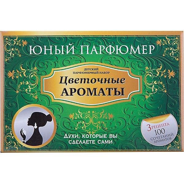 Набор Юный Парфюмер Цветочные ароматыНаборы для создания парфюмерии<br>Характеристики:<br><br>• размер: 20x13x12см.;<br>• в набор входит: 7 видов парфюмерного масла, полисорбат, пробирки стеклянные, фиолки пустые, флакон-роллер, полоски - тестер, пипетки Пастера;<br>• состав: парфюмерное масло, стекло;<br>• вес: 280 г.;<br>• для детей в возрасте: от 8 лет;<br>• страна производитель: Россия.<br><br>Этот необычный набор от производителя Master IQ2 (Мастер АйКью2) поможет ребенку открыть для себя новый вид искусства - парфюмерию. Вместе с этим набором можно научиться создавать собственные запахи, различать их между собой и даже обрести свой собственный неповторимый образ. С помощью семи парфюмерных масел можно создавать неповторимые комбинации. <br><br>Благодаря парфюмерному набору ребёнок научится подбирать духи, узнает некоторые особенности ароматической композиции и познакомится с историей возникновения парфюмерии. Именно этот набор познакомит более подробно с такими характерными сладкими цветочными ароматами, в состав которых вошли: бергамот, жасмин, гвоздика, роза, лаванда, герань, иланг-иланг.<br><br>Набор Юный Парфюмер Цветочные ароматы можно купить в нашем интернет-магазине.<br><br>Ширина мм: 182<br>Глубина мм: 102<br>Высота мм: 120<br>Вес г: 285<br>Возраст от месяцев: 96<br>Возраст до месяцев: 180<br>Пол: Женский<br>Возраст: Детский<br>SKU: 5083867