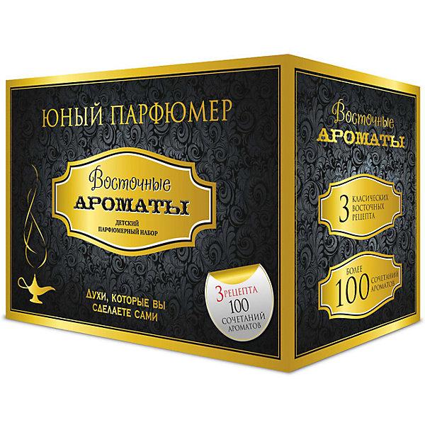 Набор Юный Парфюмер Восточные ароматыНаборы для создания парфюмерии<br>Характеристики:<br><br>• размер: 20x13x12см.;<br>• в набор входит: 7 видов парфюмерного масла, полисорбат, пробирки стеклянные, фиолки пустые, флакон-роллер, полоски - тестер, пипетки Пастера;<br>• состав: парфюмерное масло, стекло;<br>• вес: 280 г.;<br>• для детей в возрасте: от 8 лет;<br>• страна производитель: Россия.<br><br>Этот необычный набор от производителя Master IQ2 (Мастер АйКью2) поможет ребенку открыть для себя новый вид искусства - парфюмерию. Вместе с этим набором можно научиться создавать собственные запахи, различать их между собой и даже обрести свой собственный неповторимый образ. С помощью семи парфюмерных масел можно создавать неповторимые комбинации. <br><br>Благодаря парфюмерному набору ребёнок научится правильно подбирать духи, узнает некоторые особенности ароматической композиции и познакомится с историей возникновения парфюмерии. Именно этот набор познакомит более подробно с такими терпкими восточными ароматами, в состав которых вошли: пачули, бергамот, иланг-иланг, апельсин, ладан, жасмин и сандал.<br><br>Набор Юный Парфюмер Восточные ароматы можно купить в нашем интернет-магазине.<br><br>Ширина мм: 182<br>Глубина мм: 102<br>Высота мм: 120<br>Вес г: 285<br>Возраст от месяцев: 96<br>Возраст до месяцев: 180<br>Пол: Женский<br>Возраст: Детский<br>SKU: 5083869
