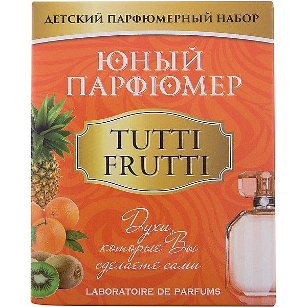 Набор Юный Парфюмер (мини) TUTTI FRUTTIНаборы для создания парфюмерии<br>Характеристики:<br><br>• размер: 12x5x15см.;<br>• в набор входит: 3 вида парфюмерного масла, полисорбат, пробирки стеклянные, фиолки пустые, флакон-роллер, полоски - тестер, пипетки Пастера;<br>• состав: парфюмерное масло, стекло;<br>• вес: 120 г.;<br>• для детей в возрасте: от 8 лет;<br>• страна производитель: Россия.<br><br>Этот необычный набор от производителя Master IQ2 (Мастер АйКью2) поможет ребенку открыть для себя новый вид искусства - парфюмерию. Вместе с этим набором можно научиться создавать собственные запахи, различать их между собой и даже обрести свой собственный образ. С помощью семи парфюмерных масел можно создавать понравившиеся комбинации.<br><br>Благодаря парфюмерному набору ребёнок научится правильно подбирать духи, узнает некоторые особенности ароматической композиции и познакомится с историей возникновения парфюмерии. Именно этот набор познакомит более подробно с терпкими восточными ароматами, в состав которых вошли: апельсин, жасмин и сандал.<br><br>Набор Юный Парфюмер (мини) (Тутти Фрутти) можно купить в нашем интернет-магазине.<br><br>Ширина мм: 120<br>Глубина мм: 50<br>Высота мм: 150<br>Вес г: 120<br>Возраст от месяцев: 96<br>Возраст до месяцев: 180<br>Пол: Женский<br>Возраст: Детский<br>SKU: 5083870