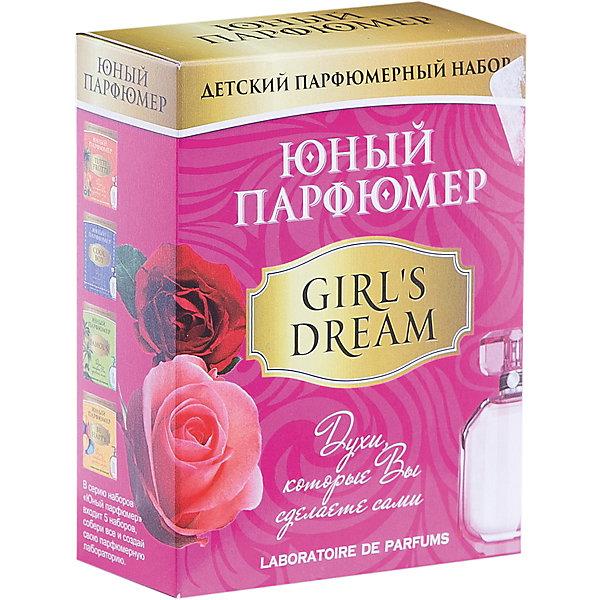 Набор Юный Парфюмер (мини) GIRL DREAMНаборы для создания парфюмерии<br>Характеристики:<br>• размер: 12x5x15см.;<br>• в набор входит: 3 вида парфюмерного масла, полисорбат, пробирки стеклянные, фиолки пустые, флакон-роллер, полоски - тестер, пипетки Пастера;<br>• состав: парфюмерное масло, стекло;<br>• вес: 120 г.;<br>• для детей в возрасте: от 8 лет;<br>• страна производитель: Россия.<br><br>Этот необычный набор от производителя Master IQ2 (Мастер АйКью2) поможет ребенку открыть для себя новый вид искусства - парфюмерию. Вместе с этим набором можно научиться создавать собственные запахи, различать их между собой и даже обрести свой собственный образ. С помощью семи парфюмерных масел можно создавать понравившиеся комбинации. <br><br>Благодаря парфюмерному набору ребёнок научится правильно подбирать духи, узнает некоторые особенности ароматической композиции и познакомится с историей возникновения парфюмерии. Именно этот набор познакомит более подробно с терпкими нежными ароматами, в состав которых вошли: роза, пачули, ваниль.<br><br>Набор Юный Парфюмер (мини) GIRL DREAM (Гёрл Дрим) можно купить в нашем интернет-магазине.<br>Ширина мм: 120; Глубина мм: 50; Высота мм: 150; Вес г: 120; Возраст от месяцев: 96; Возраст до месяцев: 180; Пол: Женский; Возраст: Детский; SKU: 5083871;