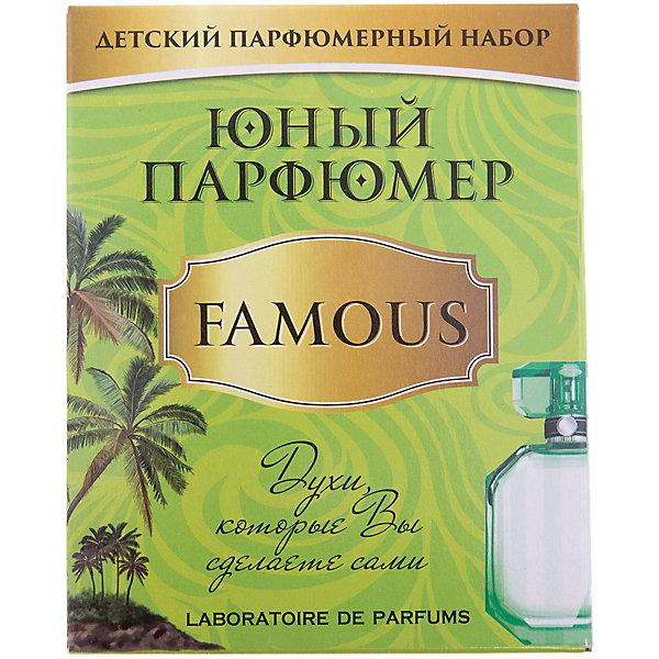 Набор Юный Парфюмер (мини) FAMOUSНаборы для создания парфюмерии<br>Характеристики:<br><br>• размер: 12x5x15см.;<br>• в набор входит: 3 вида парфюмерного масла, полисорбат, пробирки стеклянные, фиолки пустые, флакон-роллер, полоски - тестер, пипетки Пастера;<br>• состав: парфюмерное масло, стекло;<br>• вес: 120 г.;<br>• для детей в возрасте: от 8 лет;<br>• страна производитель: Россия.<br><br>Этот необычный набор от производителя Master IQ2 (Мастер АйКью2) поможет ребенку открыть для себя новый вид искусства - парфюмерию. Вместе с этим набором можно научиться создавать собственные запахи, различать их между собой и даже обрести свой собственный образ. С помощью семи парфюмерных масел можно создавать понравившиеся комбинации.<br><br>Благодаря парфюмерному набору ребёнок научится правильно подбирать духи, узнает некоторые особенности ароматической композиции и познакомится с историей возникновения парфюмерии. Именно этот набор познакомит более подробно с тропическими ароматами, в состав которых вошли: роза, пачули, лаванда.<br><br>Набор Юный Парфюмер (мини) FAMOUS (Феймос) можно купить в нашем интернет-магазине.<br><br>Ширина мм: 120<br>Глубина мм: 50<br>Высота мм: 150<br>Вес г: 120<br>Возраст от месяцев: 96<br>Возраст до месяцев: 180<br>Пол: Женский<br>Возраст: Детский<br>SKU: 5083872