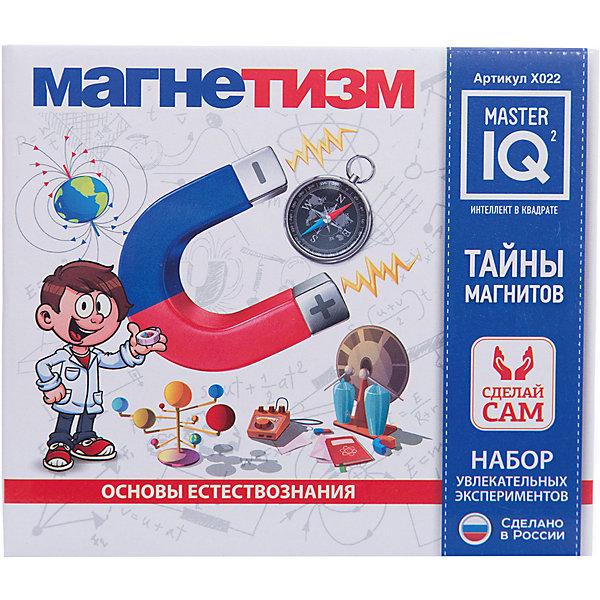 МагнетизмХимия и физика<br>Характеристики:<br><br>• размер: 16,5х9х14,5см.;<br>• в набор входит: раствор, магнит круглый, проволока, компас, коробка для компаса, магнит, пластиковая трубочка, скрепки, стаканчик, гвоздь, пенопластовая пластина, железный порошок, батарейный отсек, песок, наждачная бумага, инструкция.;<br>• вес: 194 г.;<br>• для детей в возрасте: от 8 лет;<br>• страна производитель: Россия.<br><br>Вместе с этим замечательным набором от производителя Master IQ2 (Мастер АйКью2) ребёнок познакомится с физическими опытами и экспериментами. Опыты можно выполнять самостоятельно. В этой домашней лаборатории можно применить в деле 12 опытов с магнитами, компасом, железным порошком, батарейками и не только. Этот набор поможет исследовать явления магнетизма, расширить кругозор, творческие способности, моторику рук и аккуратность.<br><br>Набор «Магнетизм» можно купить в нашем интернет-магазине.<br><br>Ширина мм: 165<br>Глубина мм: 90<br>Высота мм: 145<br>Вес г: 194<br>Возраст от месяцев: 96<br>Возраст до месяцев: 180<br>Пол: Унисекс<br>Возраст: Детский<br>SKU: 5083889