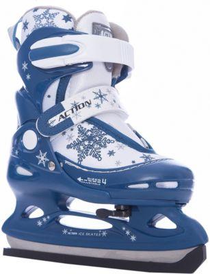 Коньки ледовые раздвижные PW-211F-2, темно-синий/белый Коньки ледовые раздвижные PW-211F-2, темно-синий/