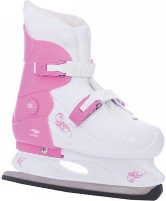 Коньки раздвижные PW-219-1 , розовый/белый Коньки раздвижные PW-219-1 , розовый/