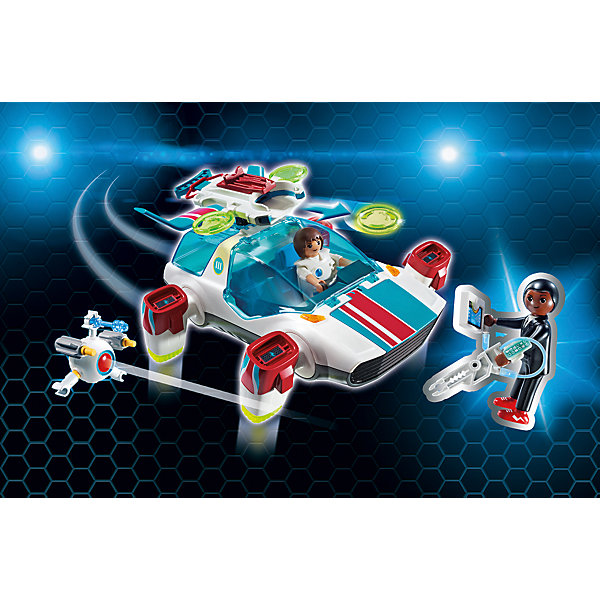 Конструктор Playmobil Фулгурикс с агентом ДжинПластмассовые конструкторы<br>Характеристики товара:<br><br>• возраст: от 5 лет;<br>• материал: пластик;<br>• в комплекте: 2 фигурки, транспортное средство, аксессуары;<br>• размер упаковки: 34,8х24,8х9,5 см;<br>• вес упаковки: 640 гр.;<br>• страна бренда: Германия.<br><br>Игровой набор «Фулгурикс с агентом Джин» создан по мотивам известного мультсериала «Суперчетверка». В набор входят фигурка агента Джин, жителя города Технополиса и супер-машина. Двигатели машины разворачиваются на 90 градусов, в зависимости от того, едет ли она вперед или летит. Стекла кабины и багажника открываются. В багажнике можно перевозить необходимые инструменты. На машине сверху шутер, стреляющий дисками. В кабине предусмотрены 2 сидения для фигурок. <br><br>Игровой набор «Фулгурикс с агентом Джин» можно приобрести в нашем интернет-магазине.<br>Ширина мм: 350; Глубина мм: 251; Высота мм: 99; Вес г: 563; Возраст от месяцев: 60; Возраст до месяцев: 144; Пол: Мужской; Возраст: Детский; SKU: 5086048;