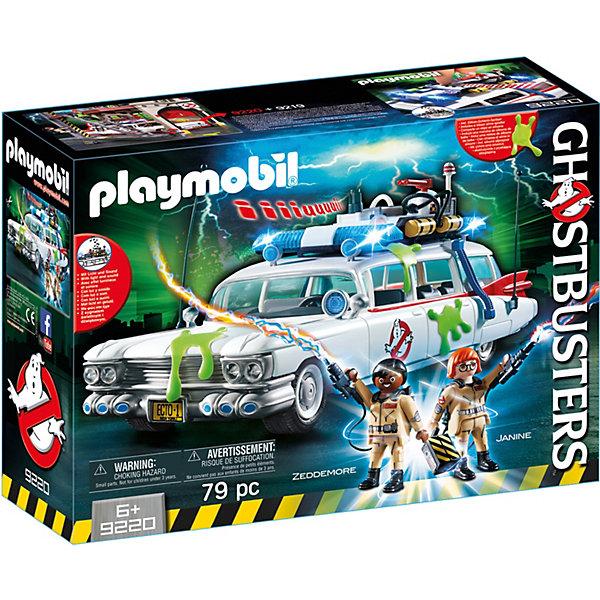 Конструктор Playmobil Охотники за привидениями Автомобиль Экто-1Пластмассовые конструкторы<br>Характеристики товара:<br><br>• возраст: от 6 лет;<br>• материал: пластик;<br>• в комплекте: 2 фигурки, машина, аксессуары;<br>• тип батареек: 3 батарейки ААА;<br>• наличие батареек: в комплект не входят;<br>• размер упаковки: 38,5х28,4х12,5 см;<br>• вес упаковки: 1,085 кг;<br>• страна бренда: Германия.<br><br>Игровой набор «Охотники за привидениями: Автомобиль Экто-1» создан по мотивам одноименного мультсериала. В набор входят фигурки героев и их автомобиль, на котором они охотятся за призраками. Машина оснащена световыми и звуковыми эффектами. Внутри есть множество приспособлений для ловли привидений. Двери, багажник и капот машины открываются. <br><br>Игровой набор «Охотники за привидениями: Автомобиль Экто-1» можно приобрести в нашем интернет-магазине.<br>Ширина мм: 389; Глубина мм: 286; Высота мм: 129; Вес г: 954; Возраст от месяцев: 72; Возраст до месяцев: 144; Пол: Мужской; Возраст: Детский; SKU: 5086112;