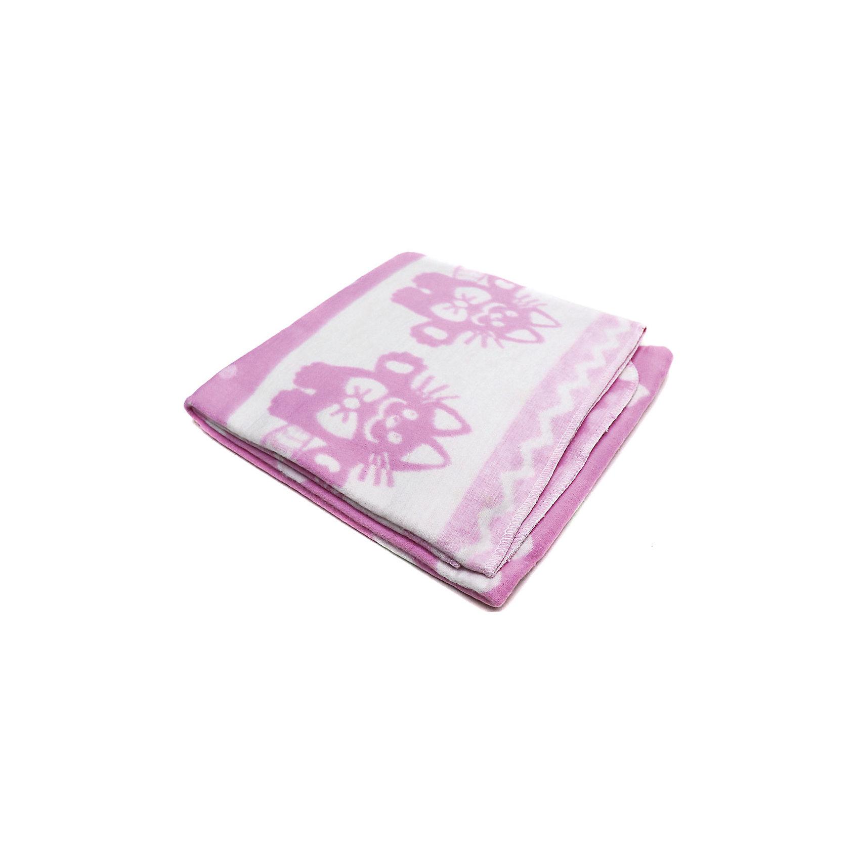 Ермолино Байковое одеяло х/б 140х100 см., Топотушки, розовый б у столярное оборудование