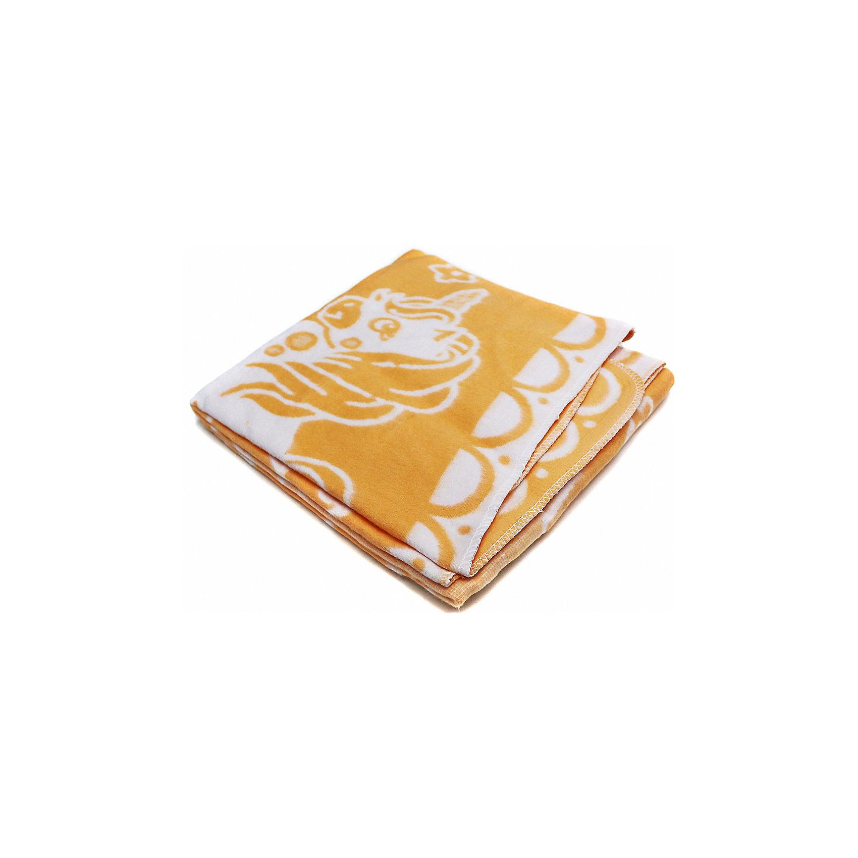 Ермолино Байковое одеяло х/б 140х100 см., Топотушки, жёлтый дорожные плиты б у