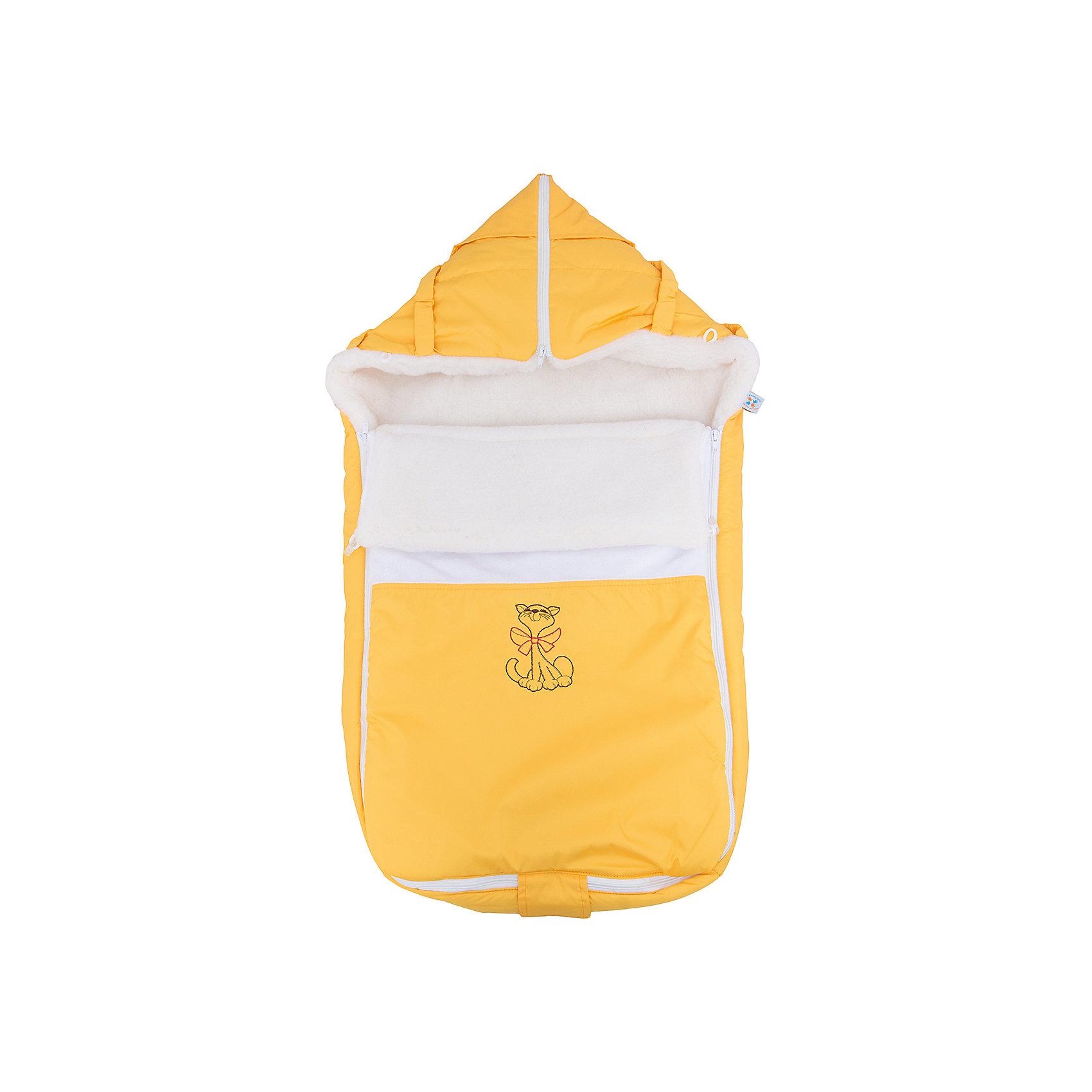 Меховой конверт Ладушка, Топотушки, жёлтыйЗимние конверты<br>Меховой конверт Ладушка, Топотушки, желтый<br><br>Характеристики:<br><br>-Возраст: от 0 до 7 месяцев<br>-Цвет: желтый<br>-Материал: - влагостойкая ткань снаружи<br>-теплый мех внутри<br><br>Меховой конверт Ладушка, Топотушки, желтый согреет вашего малыша в холодное время года. Благодаря материалу, конверт не промокнет при контакте с водой. Это защитить ребёнка от простуды. В то же время конверт не будет препятствовать поступлению воздуха. По бокам находятся две молнии, поэтому вы сможете быстро и удобно расстегнуть конверт, не потревожив малыша. Конверт трансформируется в плед или теплую подкладку. С меховым конвертом Ладушка прогулки вашего малыша станут теплыми и комфортными. <br><br>Меховой конверт Ладушка, Топотушки, желтый можно приобрести в нашем интернет-магазине.<br><br>Ширина мм: 780<br>Глубина мм: 420<br>Высота мм: 50<br>Вес г: 500<br>Возраст от месяцев: 0<br>Возраст до месяцев: 7<br>Пол: Унисекс<br>Возраст: Детский<br>SKU: 5086349