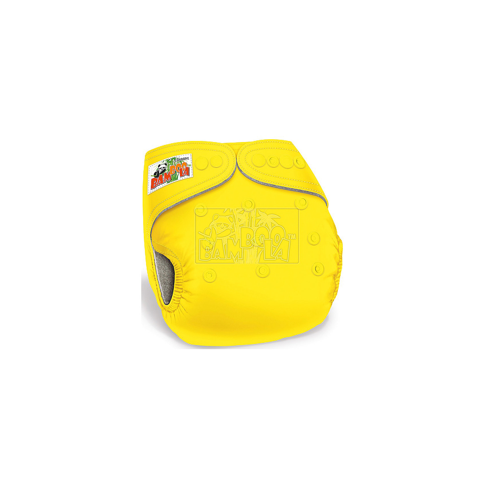 Многоразовый подгузник Bamboola Premium (Bamboo), 3-16 кг., Multi Diapers, жёлтый