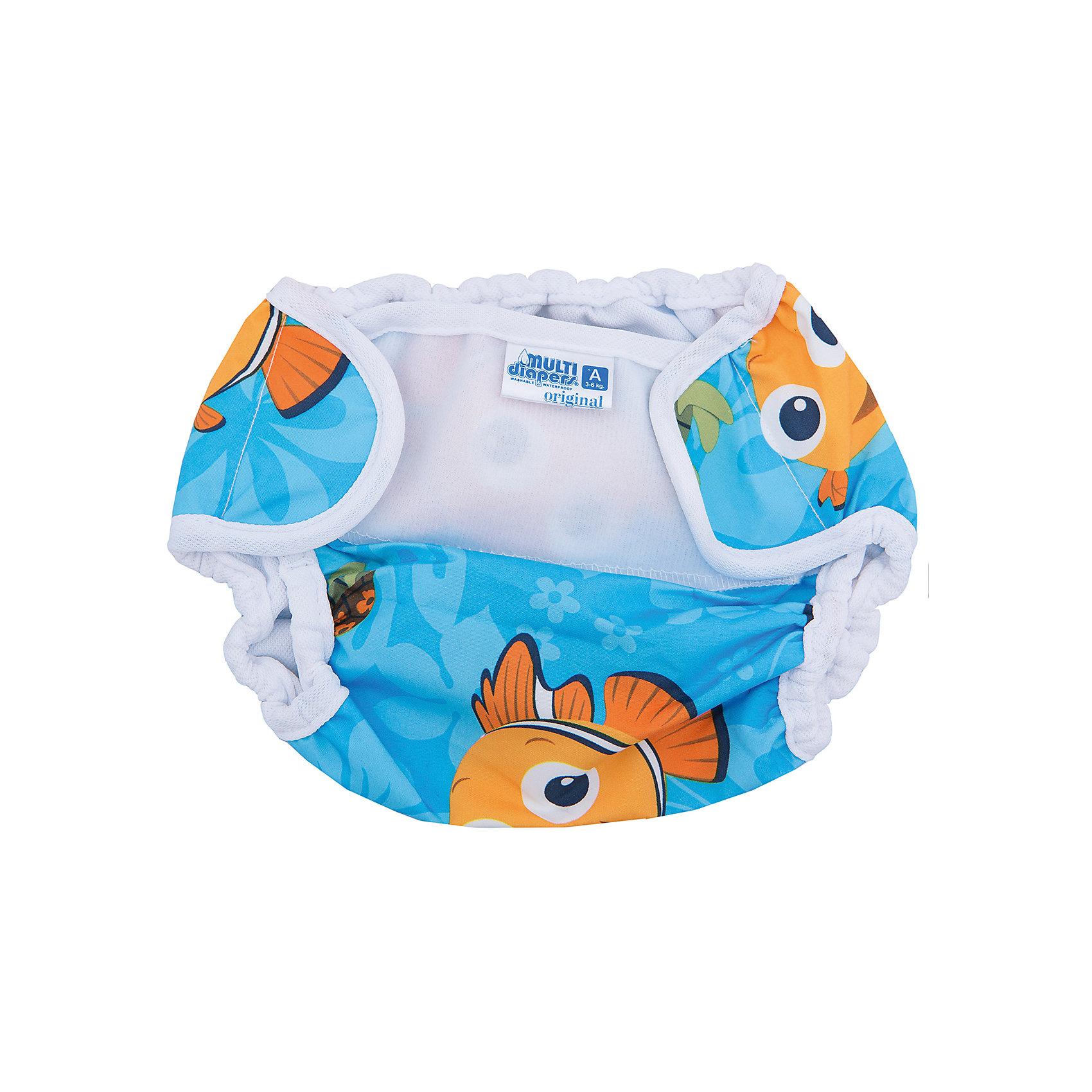 Мульти-дайперсы Рыбки Немо, А 3-6 кг., Multi Diapers, голубой