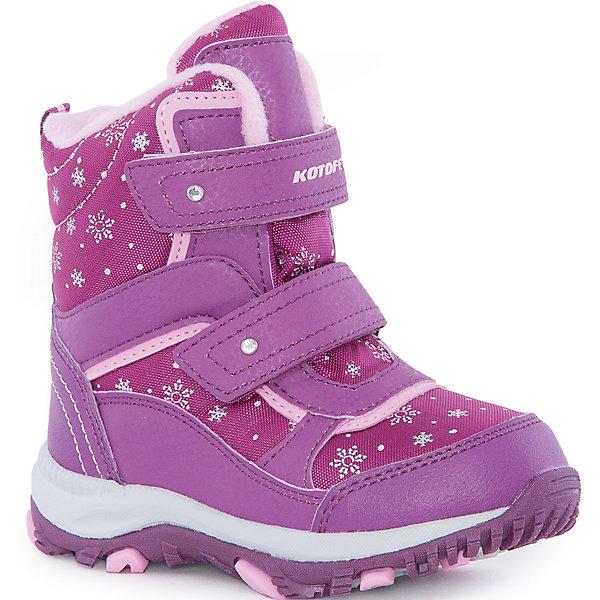 Ботинки  для девочки КотофейБотинки<br>Ботинки  для девочки Котофей.<br><br>Характеристики:<br><br>- Внешний материал: искусственная кожа, текстиль<br>- Внутренний материал: мех шерстяной<br>- Стелька: войлок<br>- Подошва: филон, ТЭП<br>- Тип застежки: липучки<br>- Вид крепления обуви: клеевой<br>- Цвет: бордовый, розовый<br>- Сезон: зима<br>- Температурный режим: от +5 до -15 градусов<br>- Пол: для девочек<br><br>Ботинки торговой марки Котофей понравится абсолютно всем девочкам! Они особенно хороши для активных прогулок. Верх выполнен из влагоотталкивающего текстиля и кожи. Подкладка - из натуральной шерсти, имеется дополнительная стелька из войлока, поэтому ножке в такой обуви тепло и уютно. Между материалами верха и подклада вшит специальный мембранный материал, отталкивающий влагу, но позволяющий ногам дышать. Мыс защищен. Гибкая, широкая, клеевая подошва с рельефным протектором обеспечит превосходное сцепление с поверхностью. Снижение ударной нагрузки и повышенную устойчивость обеспечивает в подошве слой из материала филон, который часто используется в спортивной обуви. Вторая часть подошвы из термоэластопласта (ТЭП) – пластичного материала, отлично амортизирующего при шаге, не теряющего своих свойств при понижении температур, предотвращающего скольжение. Два ремня с липучкой позволяют не только быстро обувать и снимать ботинки, но и обеспечивают плотное прилегание обуви к стопе. Детская обувь «Котофей» качественна, красива, добротна, комфортна и долговечна. Она производится на Егорьевской обувной фабрике. Жесткий контроль производства и постоянное совершенствование технологий при многолетнем опыте позволяют считать компанию одним из лидеров среди отечественных производителей детской обуви.<br><br>Ботинки  для девочки Котофей можно купить в нашем интернет-магазине.<br>Ширина мм: 262; Глубина мм: 176; Высота мм: 97; Вес г: 427; Цвет: белый; Возраст от месяцев: 72; Возраст до месяцев: 84; Пол: Женский; Возраст: Детский; Размер: 30,26,29,28,27; SKU: 5086842;