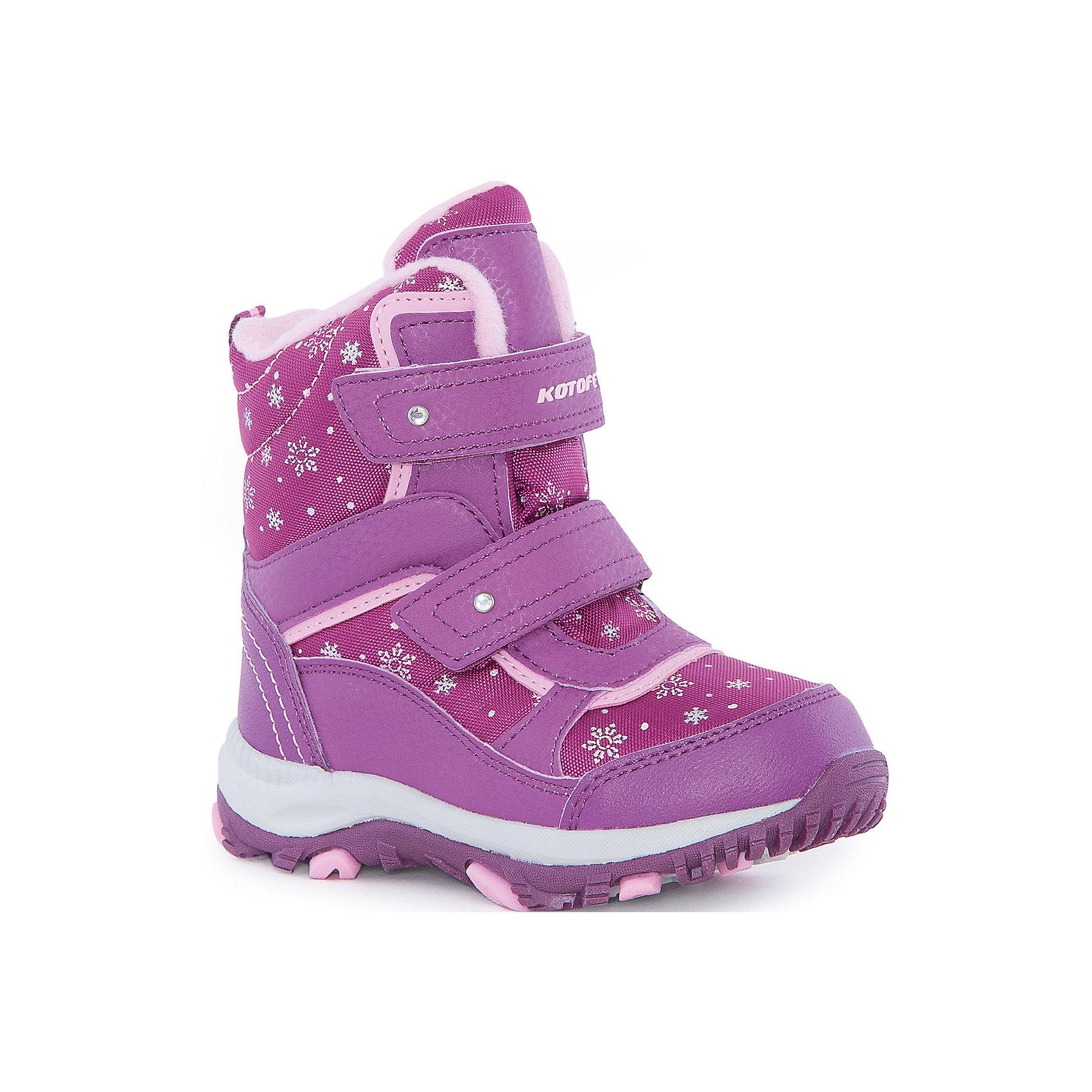 Ботинки  для девочки КотофейБотинки<br>Ботинки  для девочки Котофей.<br><br>Характеристики:<br><br>- Внешний материал: искусственная кожа, текстиль<br>- Внутренний материал: мех шерстяной<br>- Стелька: войлок<br>- Подошва: филон, ТЭП<br>- Тип застежки: липучки<br>- Вид крепления обуви: клеевой<br>- Цвет: бордовый, розовый<br>- Сезон: зима<br>- Температурный режим: от +5 до -15 градусов<br>- Пол: для девочек<br><br>Ботинки торговой марки Котофей понравится абсолютно всем девочкам! Они особенно хороши для активных прогулок. Верх выполнен из влагоотталкивающего текстиля и кожи. Подкладка - из натуральной шерсти, имеется дополнительная стелька из войлока, поэтому ножке в такой обуви тепло и уютно. Между материалами верха и подклада вшит специальный мембранный материал, отталкивающий влагу, но позволяющий ногам дышать. Мыс защищен. Гибкая, широкая, клеевая подошва с рельефным протектором обеспечит превосходное сцепление с поверхностью. Снижение ударной нагрузки и повышенную устойчивость обеспечивает в подошве слой из материала филон, который часто используется в спортивной обуви. Вторая часть подошвы из термоэластопласта (ТЭП) – пластичного материала, отлично амортизирующего при шаге, не теряющего своих свойств при понижении температур, предотвращающего скольжение. Два ремня с липучкой позволяют не только быстро обувать и снимать ботинки, но и обеспечивают плотное прилегание обуви к стопе. Детская обувь «Котофей» качественна, красива, добротна, комфортна и долговечна. Она производится на Егорьевской обувной фабрике. Жесткий контроль производства и постоянное совершенствование технологий при многолетнем опыте позволяют считать компанию одним из лидеров среди отечественных производителей детской обуви.<br><br>Ботинки  для девочки Котофей можно купить в нашем интернет-магазине.<br><br>Ширина мм: 262<br>Глубина мм: 176<br>Высота мм: 97<br>Вес г: 427<br>Цвет: разноцветный<br>Возраст от месяцев: 72<br>Возраст до месяцев: 84<br>Пол: Женский<br>Возраст: Детский<br>Размер: 30,26,