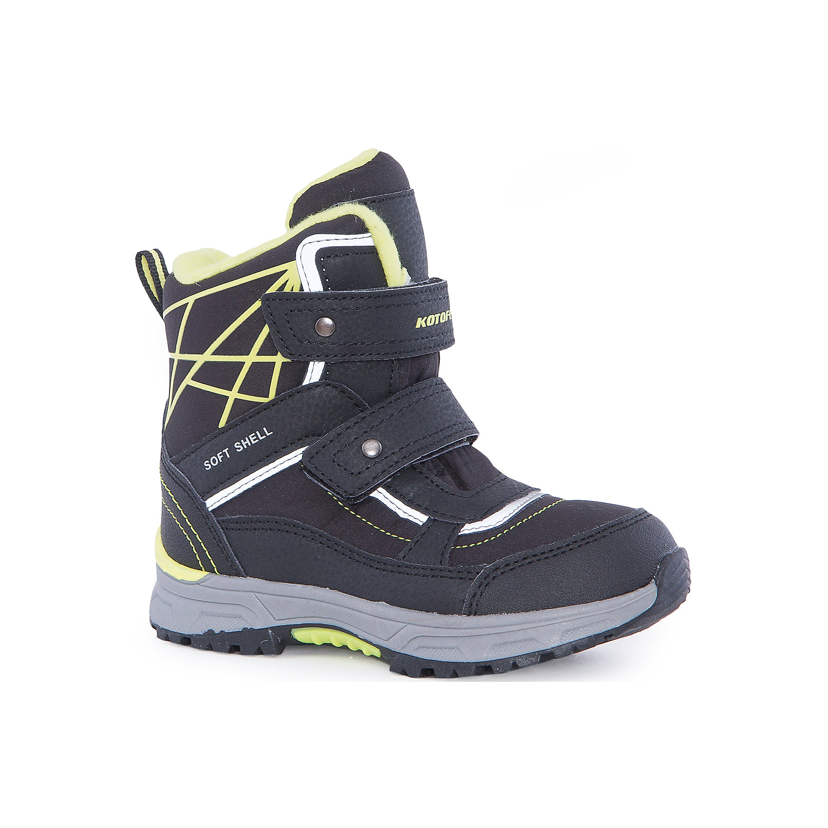 Ботинки  для мальчика КотофейБотинки<br>Ботинки  для мальчика Котофей.<br><br>Характеристики:<br><br>- Внешний материал: искусственная кожа, текстиль<br>- Внутренний материал: мех шерстяной<br>- Стелька: войлок<br>- Подошва: филон, ТЭП<br>- Тип застежки: липучки<br>- Вид крепления обуви: клеевой<br>- Цвет: черный, желтый<br>- Сезон: зима<br>- Температурный режим: от +5 до -15 градусов<br>- Пол: для мальчиков<br><br>Ботинки торговой марки Котофей понравится абсолютно всем мальчикам! Они особенно хороши для активных прогулок. Верх выполнен из влагоотталкивающего текстиля и кожи. Подкладка - из натуральной шерсти, имеется дополнительная стелька из войлока, поэтому ножке в такой обуви тепло и уютно. Между материалами верха и подклада вшит специальный мембранный материал, отталкивающий влагу, но позволяющий ногам дышать. Мыс защищен. Гибкая, широкая, клеевая подошва с рельефным протектором обеспечит превосходное сцепление с поверхностью. Снижение ударной нагрузки и повышенную устойчивость обеспечивает в подошве слой из материала филон, который часто используется в спортивной обуви. Вторая часть подошвы из термоэластопласта (ТЭП) – пластичного материала, отлично амортизирующего при шаге, не теряющего своих свойств при понижении температур, предотвращающего скольжение. Два ремня с липучкой позволяют не только быстро обувать и снимать ботинки, но и обеспечивают плотное прилегание обуви к стопе. Детская обувь «Котофей» качественна, красива, добротна, комфортна и долговечна. Она производится на Егорьевской обувной фабрике. Жесткий контроль производства и постоянное совершенствование технологий при многолетнем опыте позволяют считать компанию одним из лидеров среди отечественных производителей детской обуви.<br><br>Ботинки  для мальчика Котофей можно купить в нашем интернет-магазине.<br><br>Ширина мм: 262<br>Глубина мм: 176<br>Высота мм: 97<br>Вес г: 427<br>Цвет: разноцветный<br>Возраст от месяцев: 72<br>Возраст до месяцев: 84<br>Пол: Мужской<br>Возраст: Детский<br>Размер: 30,