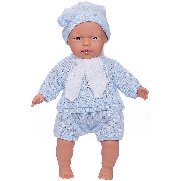 Кукла Павел, 33 см, LlorensБренды кукол<br>Характеристики:<br><br>• Предназначение: для сюжетно-ролевых игр<br>• Тип куклы: мягконабивная<br>• Пол куклы: мальчик <br>• Волосы: прорисованные<br>• Материал: поливинилхлорид, пластик, текстиль<br>• Цвет: голубой, белый<br>• Высота куклы: 33 см<br>• Комплектация: кукла, короткие шортики, свитер, шарфик, шапочка<br>• Вес: 660 г<br>• Размеры упаковки (Д*В*Ш): 20*37*10 см<br>• Упаковка: подарочная картонная коробка <br>• Особенности ухода: допускается деликатная стирка без использования красящих и отбеливающих средств предметов одежды куклы<br><br>Кукла Павел 33 см без звука – кукла, производителем которого является всемирно известный испанский кукольный бренд Llorens. Куклы этой торговой марки имеют свою неповторимую внешность и целую линейку образов как пупсов, так и кукол-малышей. Игрушки выполнены из сочетания поливинилхлорида и пластика, что позволяет с высокой долей достоверности воссоздать физиологические и мимические особенности маленьких детей. При изготовлении кукол Llorens используются только сертифицированные материалы, безопасные и не вызывающие аллергических реакций. Волосы у кукол-пупсов прорисованные; ручки и ножки двигаются.<br>Кукла Павел 33 см без звука выполнена в образе очаровательного малыша: голубые глазки и пухлые щечки создают невероятно очаровательный и милый образ. В комплект одежды Павла входит костюмчик нежно-голубого цвета, состоящий из вязаных шортиков, свитера, шапочки с помпоном и шарфика. <br>Кукла Павел 33 см без звука – это идеальный вариант для подарка к различным праздникам и торжествам.<br><br>Куклу Павла 33 см без звука можно купить в нашем интернет-магазине.<br>Ширина мм: 20; Глубина мм: 37; Высота мм: 10; Вес г: 660; Возраст от месяцев: 36; Возраст до месяцев: 84; Пол: Женский; Возраст: Детский; SKU: 5086900;