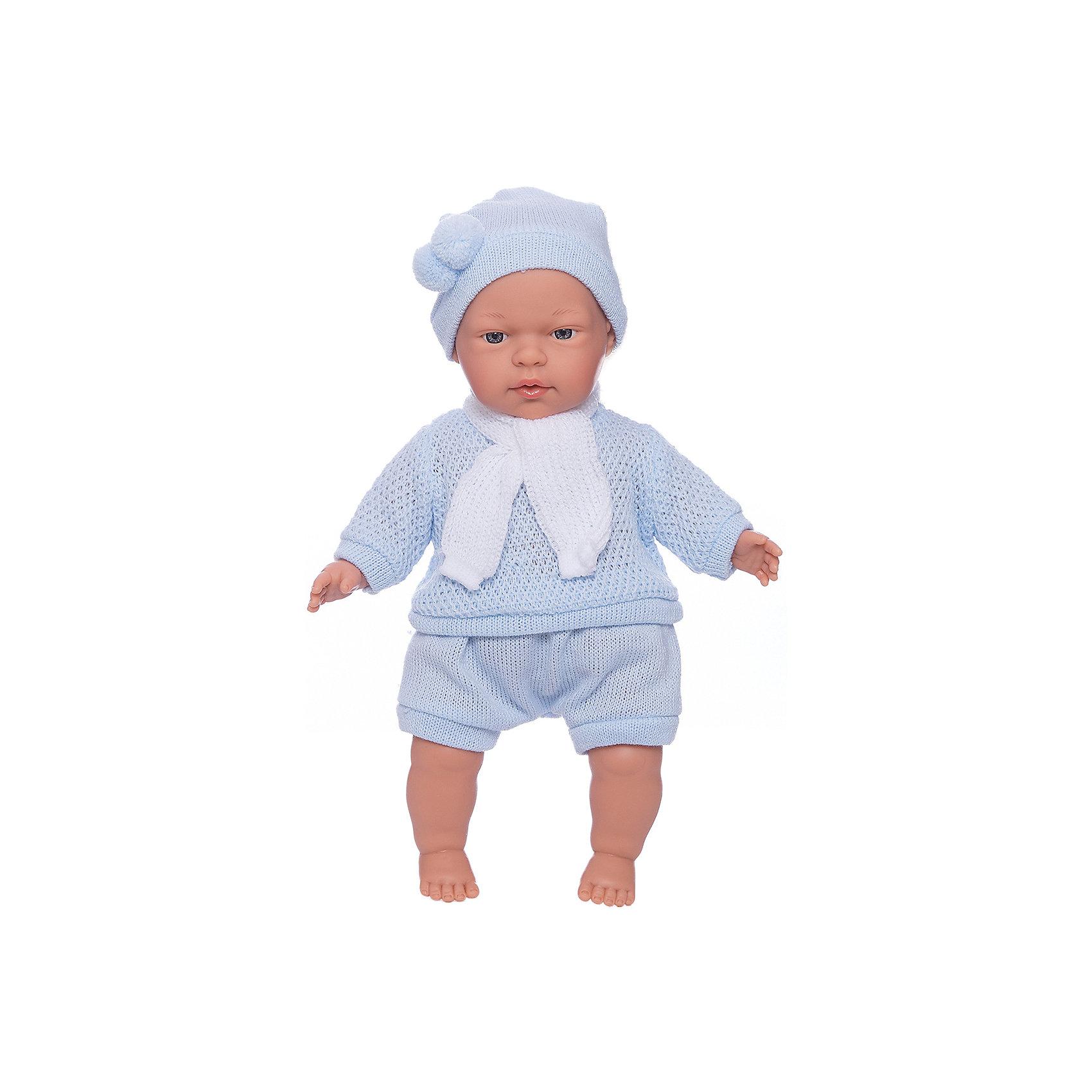Кукла Павел, 33 см, LlorensКлассические куклы<br>Характеристики:<br><br>• Предназначение: для сюжетно-ролевых игр<br>• Тип куклы: мягконабивная<br>• Пол куклы: мальчик <br>• Волосы: прорисованные<br>• Материал: поливинилхлорид, пластик, текстиль<br>• Цвет: голубой, белый<br>• Высота куклы: 33 см<br>• Комплектация: кукла, короткие шортики, свитер, шарфик, шапочка<br>• Вес: 660 г<br>• Размеры упаковки (Д*В*Ш): 20*37*10 см<br>• Упаковка: подарочная картонная коробка <br>• Особенности ухода: допускается деликатная стирка без использования красящих и отбеливающих средств предметов одежды куклы<br><br>Кукла Павел 33 см без звука – кукла, производителем которого является всемирно известный испанский кукольный бренд Llorens. Куклы этой торговой марки имеют свою неповторимую внешность и целую линейку образов как пупсов, так и кукол-малышей. Игрушки выполнены из сочетания поливинилхлорида и пластика, что позволяет с высокой долей достоверности воссоздать физиологические и мимические особенности маленьких детей. При изготовлении кукол Llorens используются только сертифицированные материалы, безопасные и не вызывающие аллергических реакций. Волосы у кукол-пупсов прорисованные; ручки и ножки двигаются.<br>Кукла Павел 33 см без звука выполнена в образе очаровательного малыша: голубые глазки и пухлые щечки создают невероятно очаровательный и милый образ. В комплект одежды Павла входит костюмчик нежно-голубого цвета, состоящий из вязаных шортиков, свитера, шапочки с помпоном и шарфика. <br>Кукла Павел 33 см без звука – это идеальный вариант для подарка к различным праздникам и торжествам.<br><br>Куклу Павла 33 см без звука можно купить в нашем интернет-магазине.<br><br>Ширина мм: 20<br>Глубина мм: 37<br>Высота мм: 10<br>Вес г: 660<br>Возраст от месяцев: 36<br>Возраст до месяцев: 84<br>Пол: Женский<br>Возраст: Детский<br>SKU: 5086900