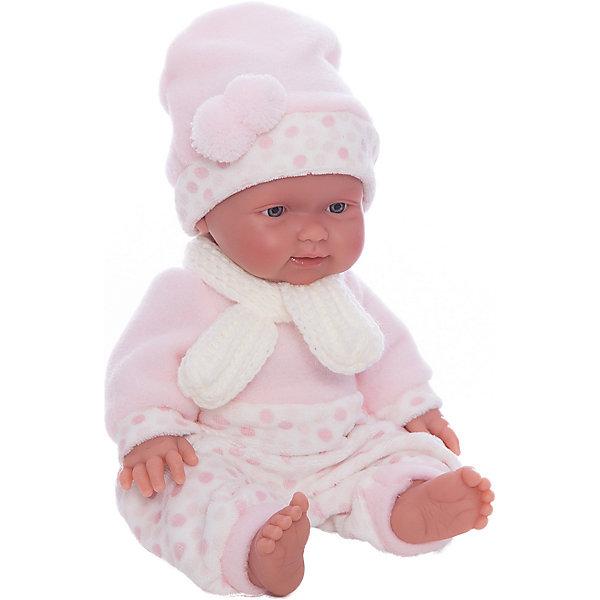 Кукла БэбитаРоза, 26 см, LlorensБренды кукол<br>Характеристики:<br><br>• Предназначение: для сюжетно-ролевых игр<br>• Тип куклы: мягконабивная<br>• Пол куклы: девочка <br>• Волосы: прорисованные<br>• Материал: поливинилхлорид, пластик, текстиль<br>• Цвет: голубой, белый<br>• Высота куклы: 26 см<br>• Комплектация: кукла, комбинезон, шарфик, шапочка<br>• Вес: 650 г<br>• Размеры упаковки (Д*В*Ш): 20*37*10 см<br>• Упаковка: подарочная картонная коробка <br>• Особенности ухода: допускается деликатная стирка без использования красящих и отбеливающих средств предметов одежды куклы<br><br>Кукла Бэбита Роза 26 см – пупс, производителем которого является всемирно известный испанский кукольный бренд Llorens. Куклы этой торговой марки имеют свою неповторимую внешность и целую линейку образов как пупсов, так и кукол-малышей. Игрушки выполнены из сочетания поливинилхлорида и пластика, что позволяет с высокой долей достоверности воссоздать физиологические и мимические особенности маленьких детей. При изготовлении кукол Llorens используются только сертифицированные материалы, безопасные и не вызывающие аллергических реакций. Волосы у кукол-пупсов прорисованные; ручки и ножки двигаются.<br>Кукла Бэбита Роза 26 см выполнена в образе очаровательной малышки: голубые глазки и пухлые щечки создают невероятно очаровательный и милый образ. В комплект одежды Бэбиты Розы входит теплый комбинированный комбинезончик, шапочка с ушками и шарфик. <br>Кукла Бэбита Роза 26 см – это идеальный вариант для подарка к различным праздникам и торжествам.<br><br>Куклу Бэбиту Розу 26 см можно купить в нашем интернет-магазине.<br>Ширина мм: 20; Глубина мм: 37; Высота мм: 10; Вес г: 650; Возраст от месяцев: 36; Возраст до месяцев: 84; Пол: Женский; Возраст: Детский; SKU: 5086923;