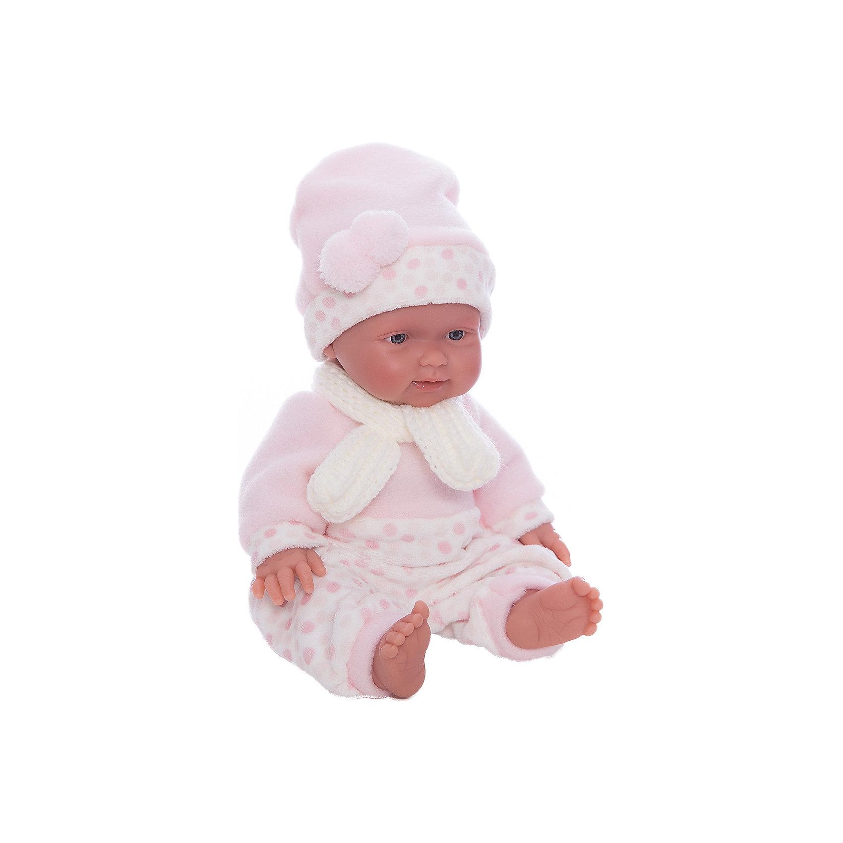 Кукла БэбитаРоза, 26 см, LlorensХарактеристики:<br><br>• Предназначение: для сюжетно-ролевых игр<br>• Тип куклы: мягконабивная<br>• Пол куклы: девочка <br>• Волосы: прорисованные<br>• Материал: поливинилхлорид, пластик, текстиль<br>• Цвет: голубой, белый<br>• Высота куклы: 26 см<br>• Комплектация: кукла, комбинезон, шарфик, шапочка<br>• Вес: 650 г<br>• Размеры упаковки (Д*В*Ш): 20*37*10 см<br>• Упаковка: подарочная картонная коробка <br>• Особенности ухода: допускается деликатная стирка без использования красящих и отбеливающих средств предметов одежды куклы<br><br>Кукла Бэбита Роза 26 см – пупс, производителем которого является всемирно известный испанский кукольный бренд Llorens. Куклы этой торговой марки имеют свою неповторимую внешность и целую линейку образов как пупсов, так и кукол-малышей. Игрушки выполнены из сочетания поливинилхлорида и пластика, что позволяет с высокой долей достоверности воссоздать физиологические и мимические особенности маленьких детей. При изготовлении кукол Llorens используются только сертифицированные материалы, безопасные и не вызывающие аллергических реакций. Волосы у кукол-пупсов прорисованные; ручки и ножки двигаются.<br>Кукла Бэбита Роза 26 см выполнена в образе очаровательной малышки: голубые глазки и пухлые щечки создают невероятно очаровательный и милый образ. В комплект одежды Бэбиты Розы входит теплый комбинированный комбинезончик, шапочка с ушками и шарфик. <br>Кукла Бэбита Роза 26 см – это идеальный вариант для подарка к различным праздникам и торжествам.<br><br>Куклу Бэбиту Розу 26 см можно купить в нашем интернет-магазине.<br><br>Ширина мм: 20<br>Глубина мм: 37<br>Высота мм: 10<br>Вес г: 650<br>Возраст от месяцев: 36<br>Возраст до месяцев: 84<br>Пол: Женский<br>Возраст: Детский<br>SKU: 5086923