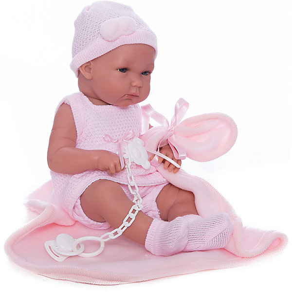 Кукла Бимбас одеялом, 35 см, LlorensКуклы<br>Характеристики:<br><br>• Предназначение: для сюжетно-ролевых игр<br>• Тип куклы: мягконабивная<br>• Пол куклы: девочка <br>• Волосы: прорисованные<br>• Материал: поливинилхлорид, пластик, текстиль<br>• Цвет: розовый<br>• Высота куклы: 35 см<br>• Комплектация: кукла, платье, чепчик, носочки, одеяло<br>• Вес: 1 кг 200 г<br>• Размеры упаковки (Д*В*Ш): 22*44*10 см<br>• Упаковка: подарочная картонная коробка <br>• Особенности ухода: допускается деликатная стирка без использования красящих и отбеливающих средств предметов одежды куклы<br><br>Кукла Бимба 35 см с одеялом – пупс, производителем которого является всемирно известный испанский кукольный бренд Llorens. Куклы этой торговой марки имеют свою неповторимую внешность и целую линейку образов как пупсов, так и кукол-малышей. Игрушки выполнены из сочетания поливинилхлорида и пластика, что позволяет с высокой долей достоверности воссоздать физиологические и мимические особенности маленьких детей. При изготовлении кукол Llorens используются только сертифицированные материалы, безопасные и не вызывающие аллергических реакций. Волосы у кукол-пупсов прорисованные; ручки и ножки двигаются.<br>Кукла Бимба 35 см с одеялом выполнена в образе очаровательной малышки: голубые глазки и пухлые щечки создают невероятно очаровательный и милый образ. В комплект одежды Бимбы входит розовое платьице без рукавов, чепчик и носочки. В наборе имеется одеяло-плед.<br>Кукла Бимба 35 см с одеялом – это идеальный вариант для подарка к различным праздникам и торжествам.<br><br>Куклу Бимбу 35 см с одеялом можно купить в нашем интернет-магазине.<br><br>Ширина мм: 22<br>Глубина мм: 44<br>Высота мм: 10<br>Вес г: 1200<br>Возраст от месяцев: 36<br>Возраст до месяцев: 84<br>Пол: Женский<br>Возраст: Детский<br>SKU: 5086926